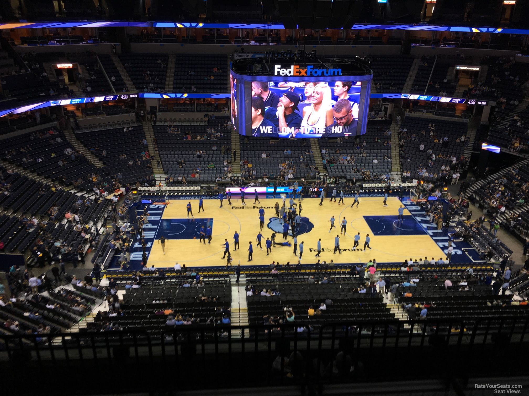 Seat View for FedEx Forum Section 224, Row F