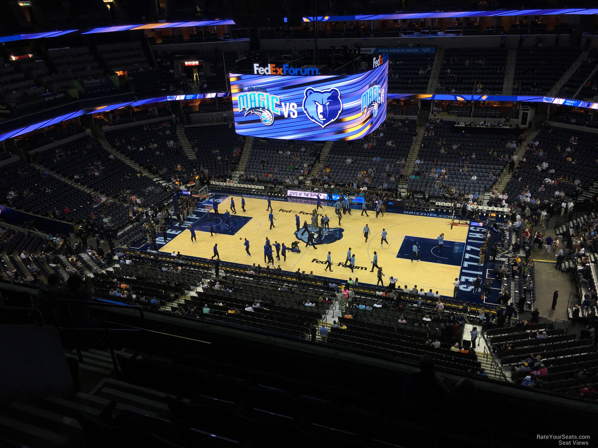 Seat View for FedEx Forum Section 226, Row F