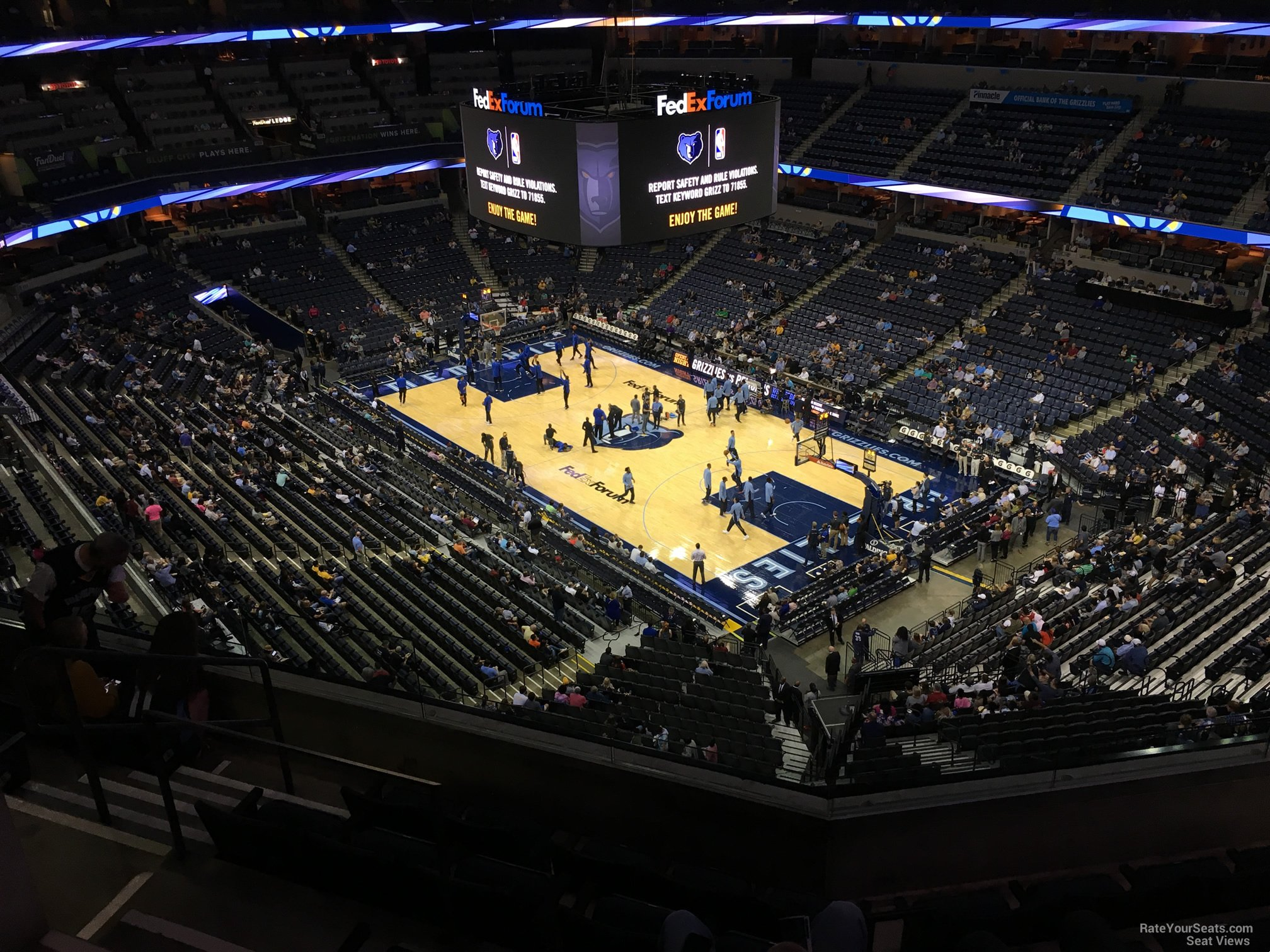 Seat View for FedEx Forum Section 229, Row F