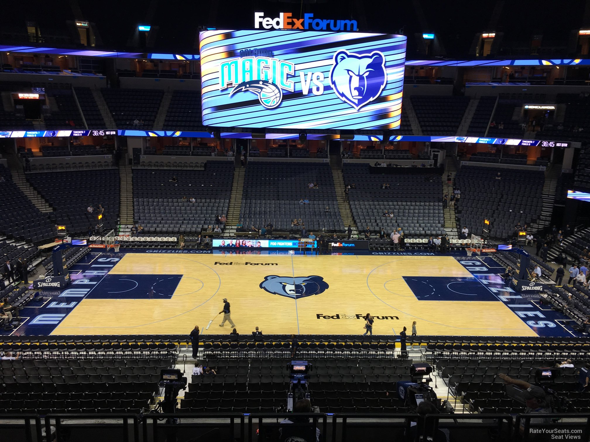 Seat View for FedEx Forum Section P11, Row H