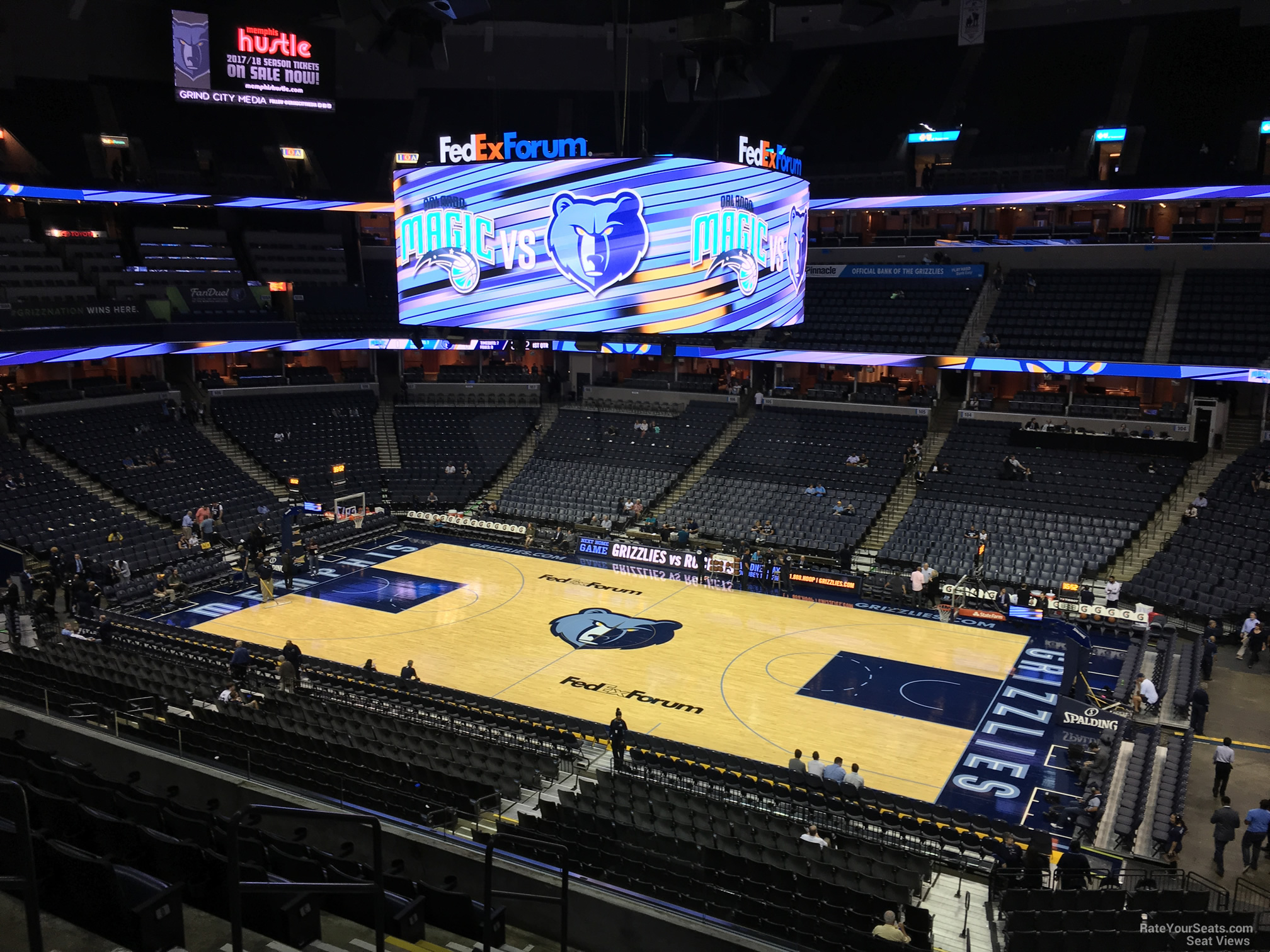 Seat View for FedEx Forum Section P13, Row H