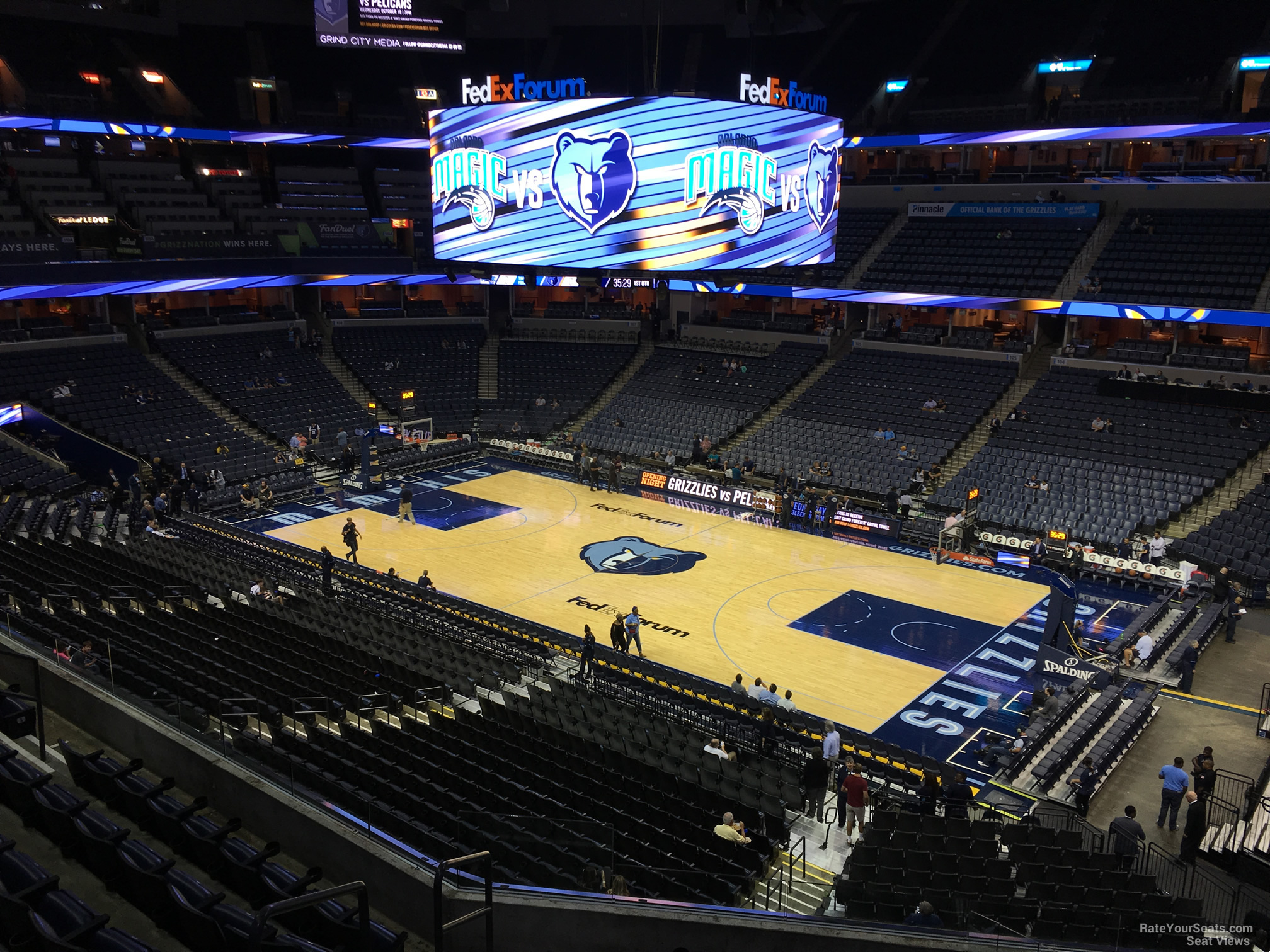 Seat View for FedEx Forum Section P14, Row H
