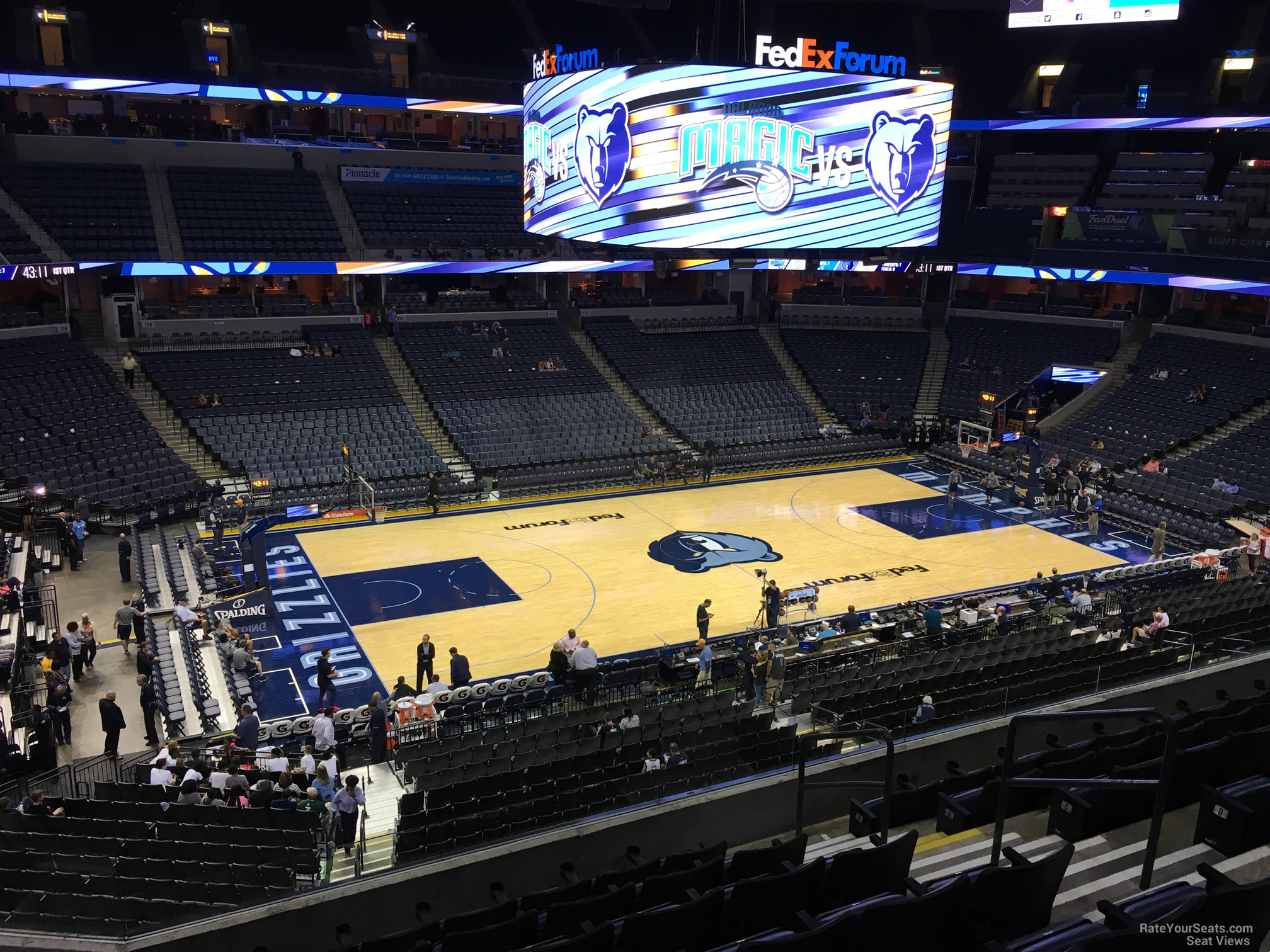 Seat View for FedEx Forum Section P2, Row H