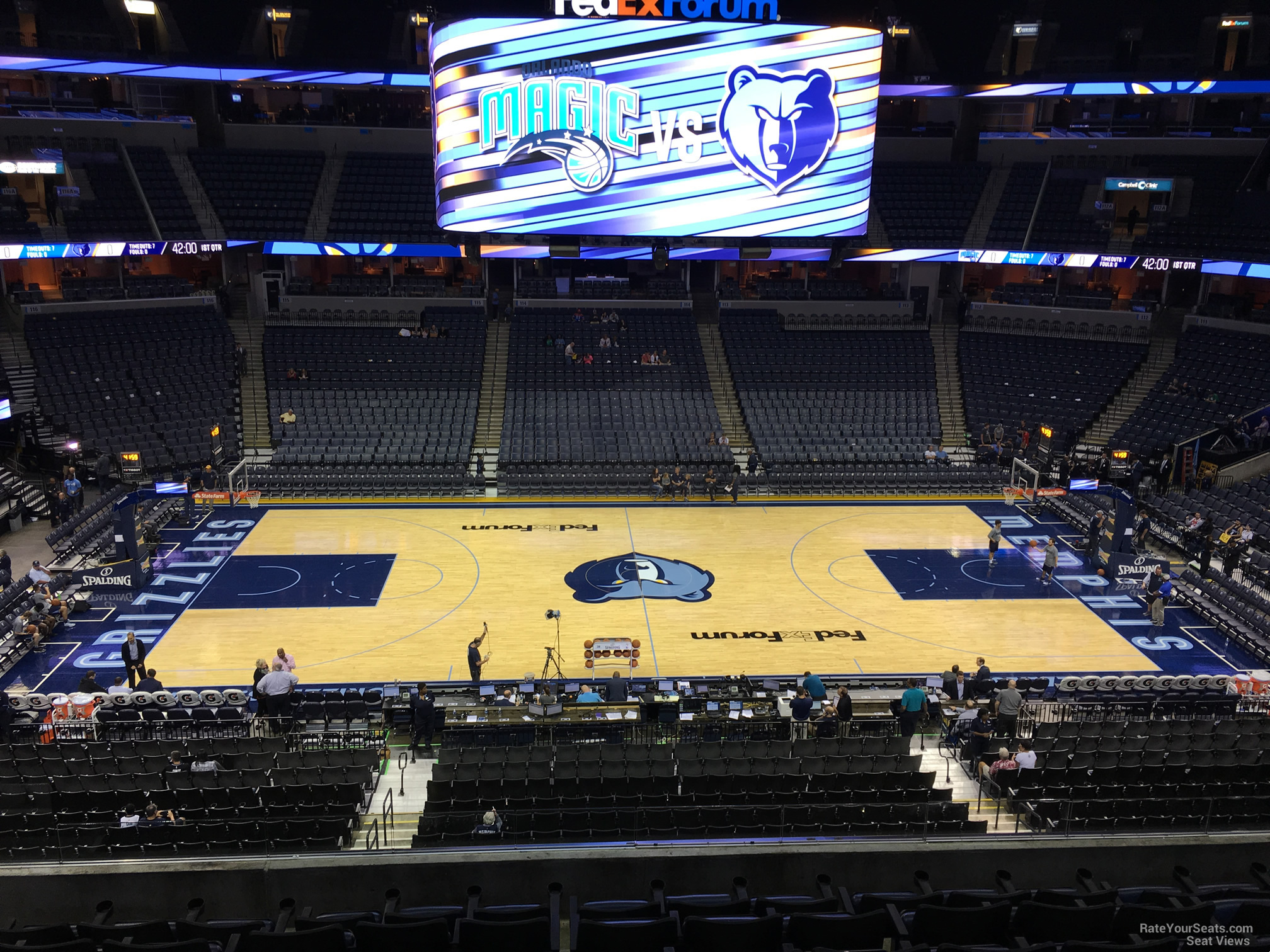 Seat View for FedEx Forum Section P4, Row H