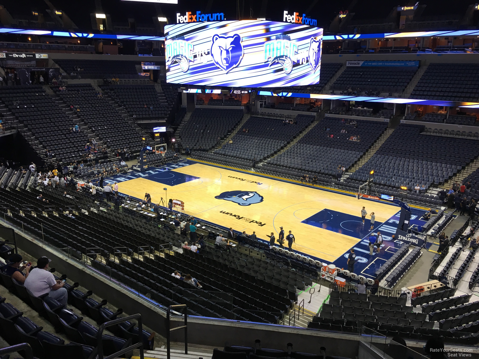 Seat View for FedEx Forum Section P7, Row H