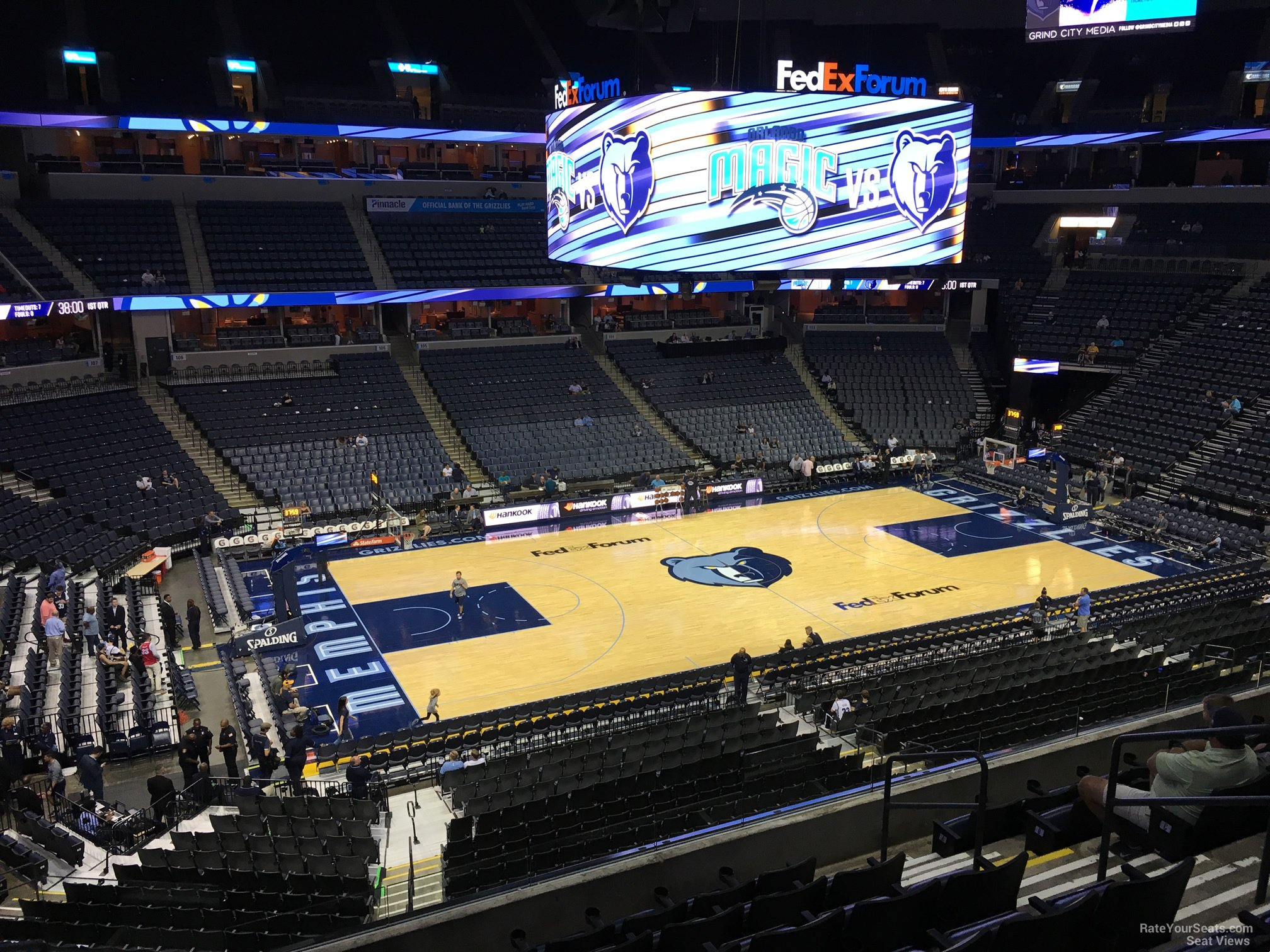 Seat View for FedEx Forum Section P9, Row H