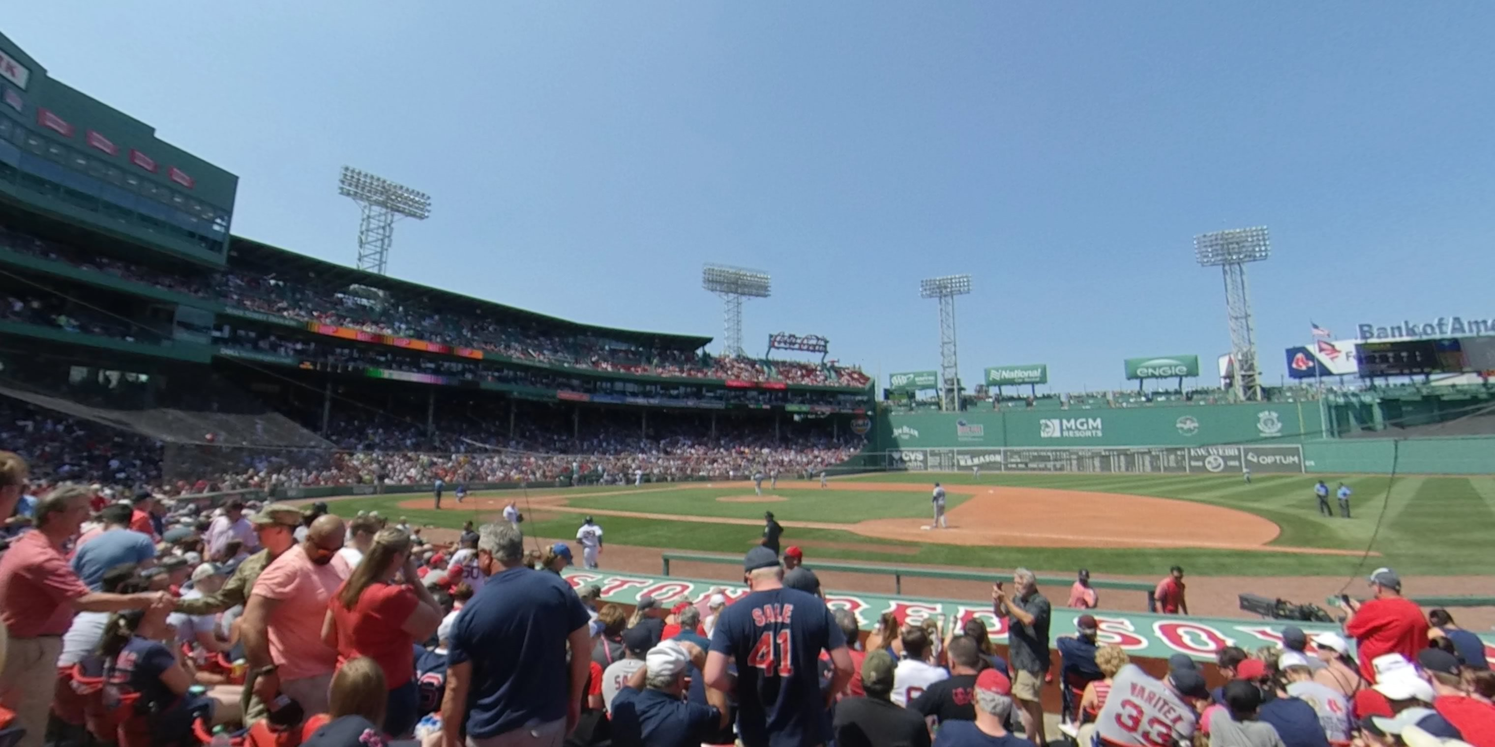360° Photo From Fenway Park Field Box 23