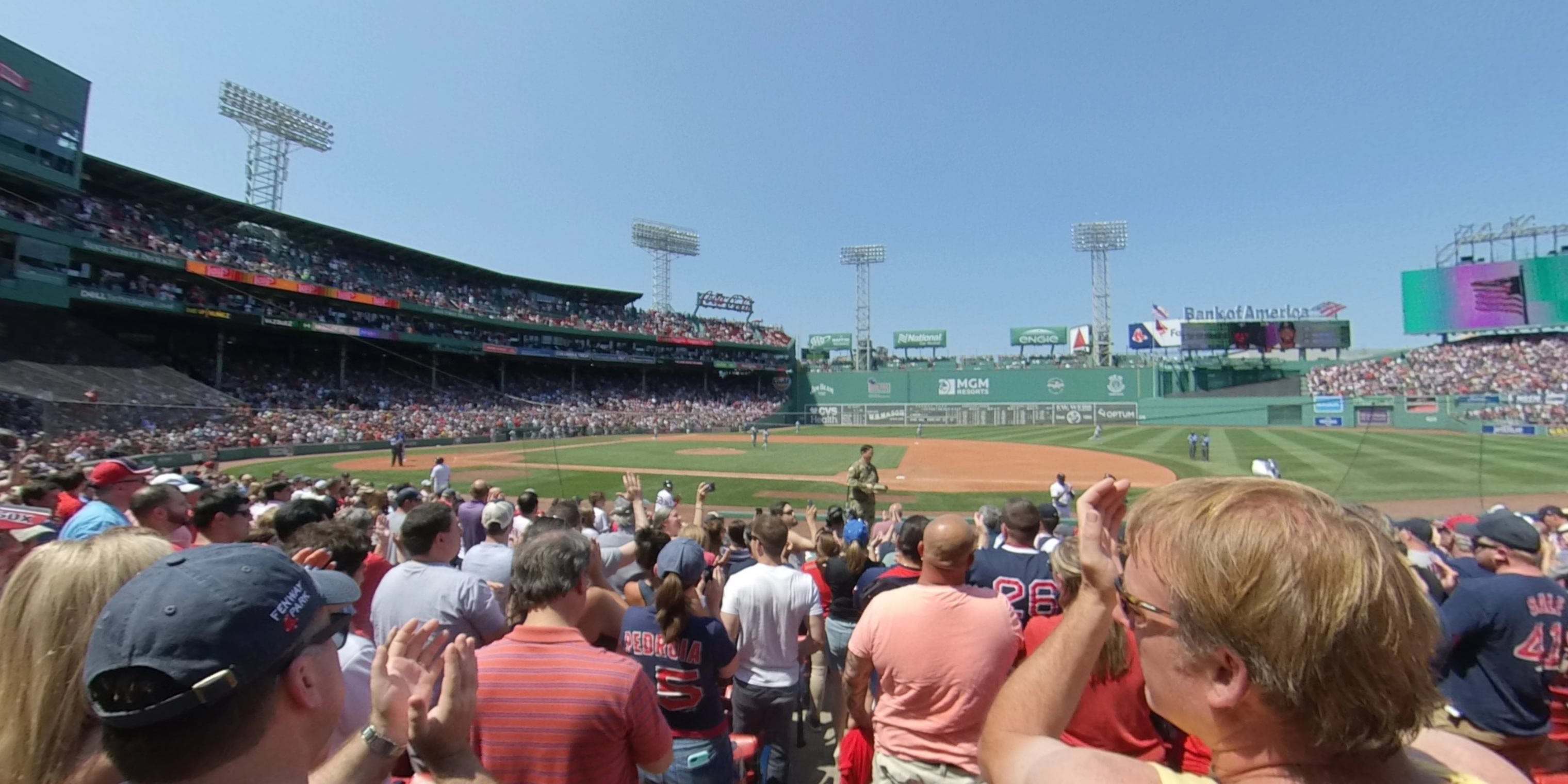 360° Photo From Fenway Park Field Box 25