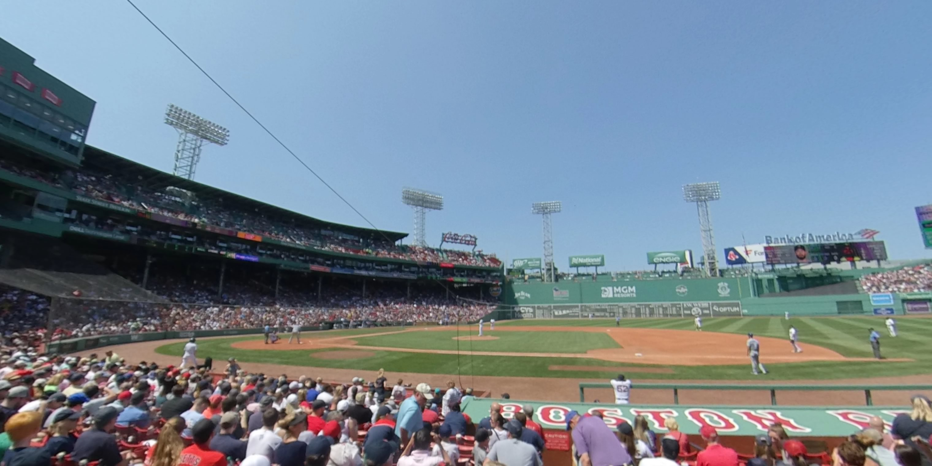 360° Photo From Fenway Park Field Box 26