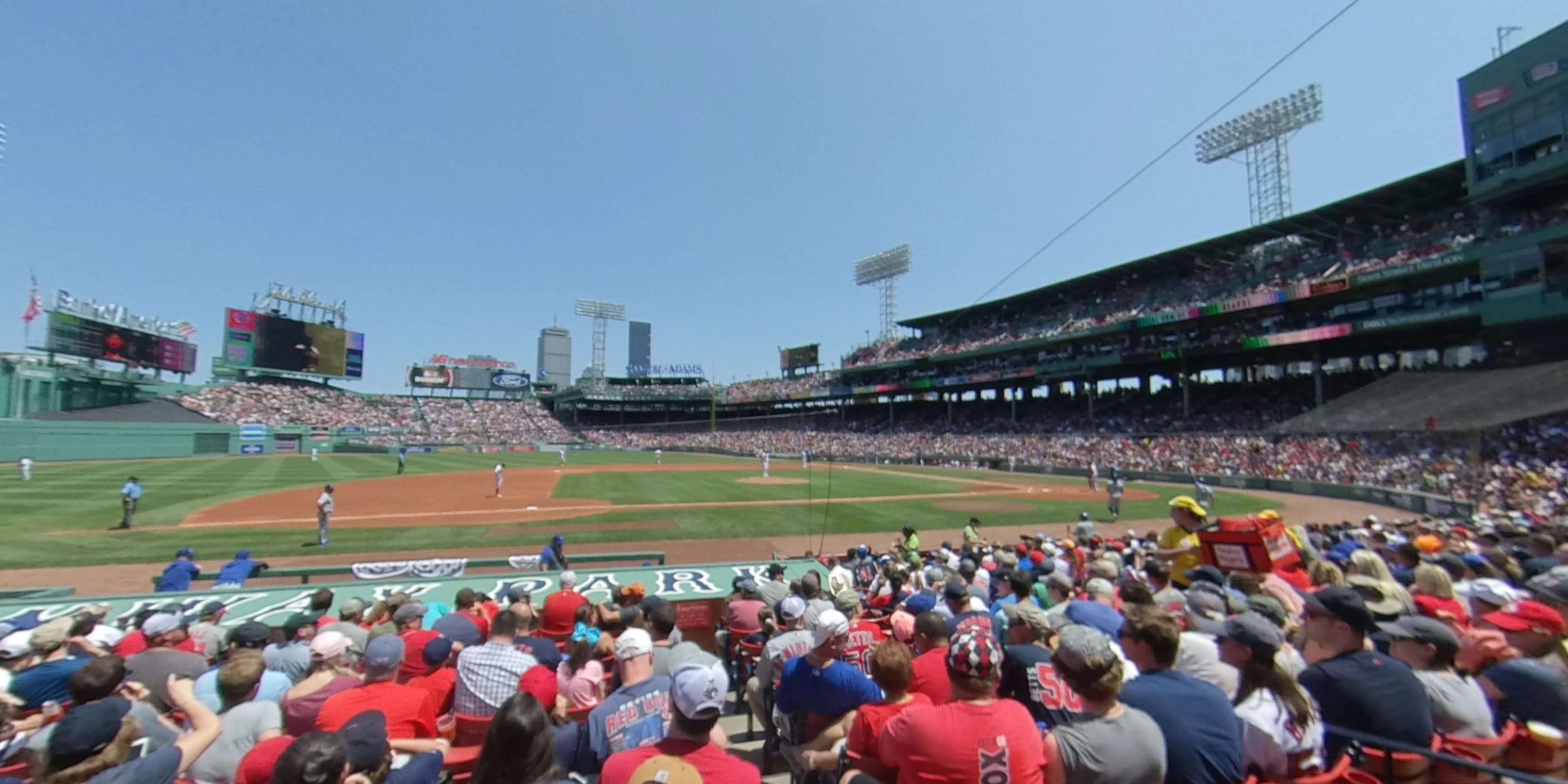 360° Photo From Fenway Park Field Box 62