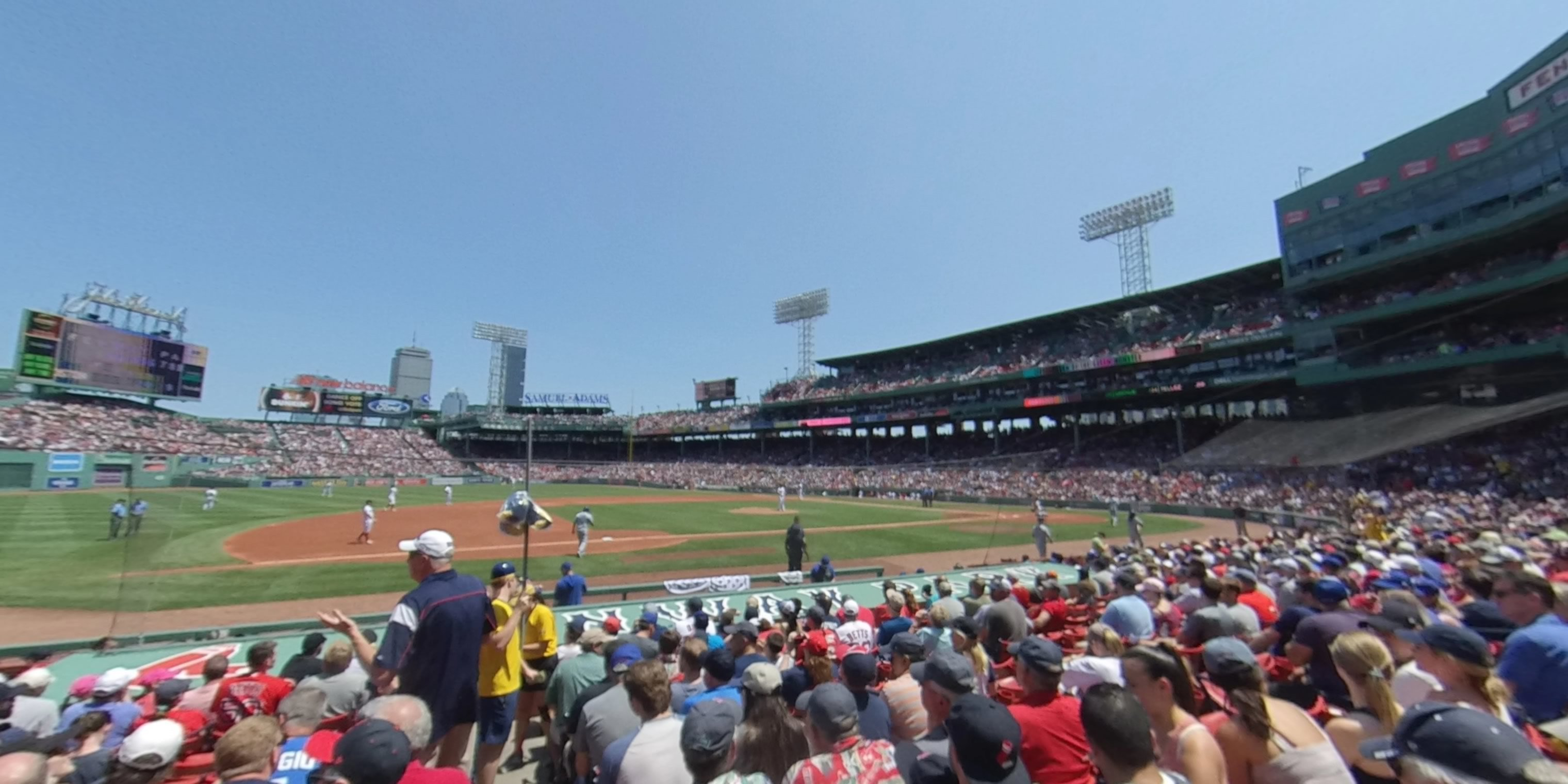360° Photo From Fenway Park Field Box 66