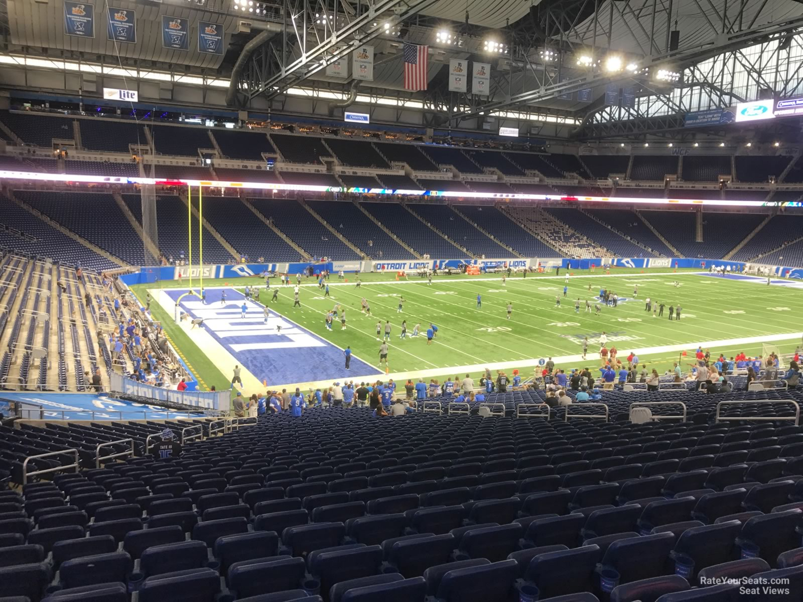 Seat View for Ford Field Section 101, Row 33