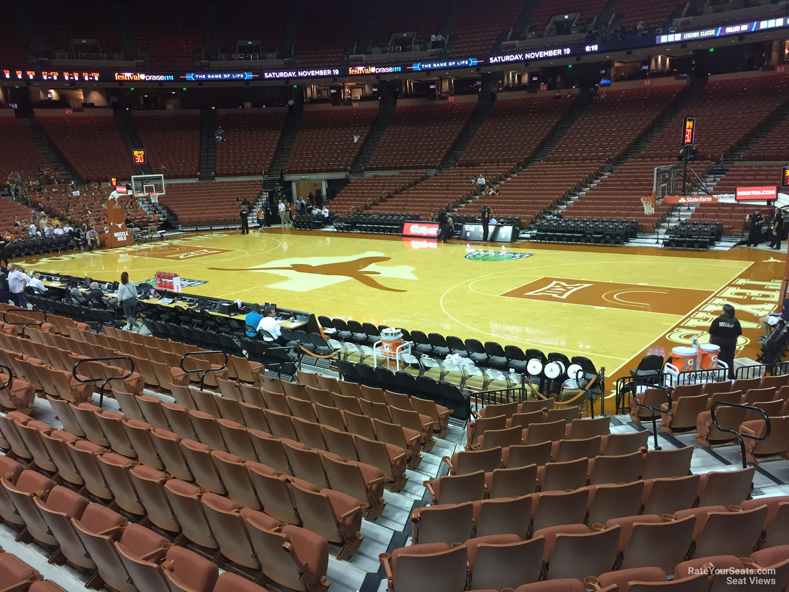 Seat View for Frank Erwin Center Section 22, Row 17