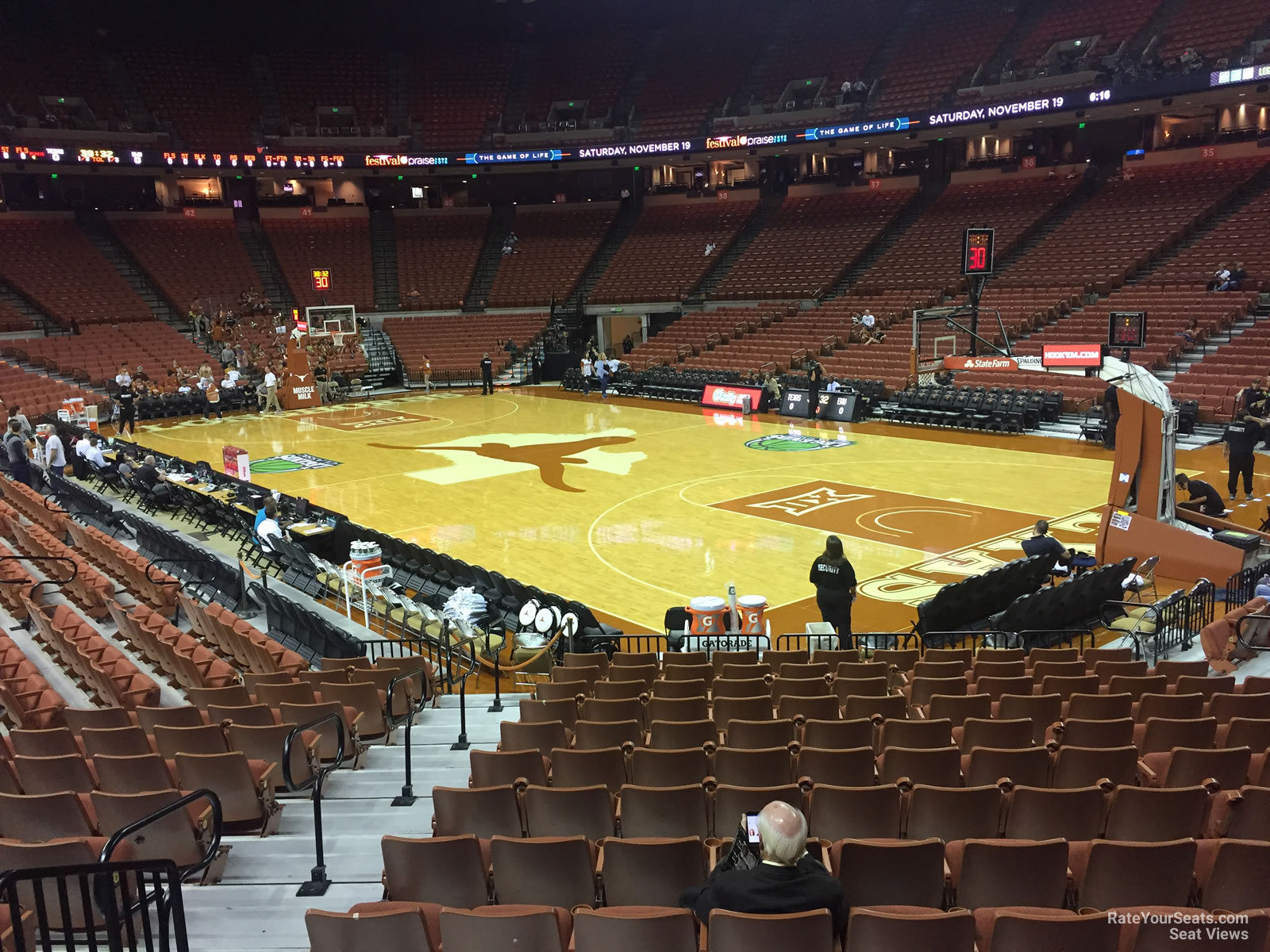 Seat View for Frank Erwin Center Section 23, Row 17