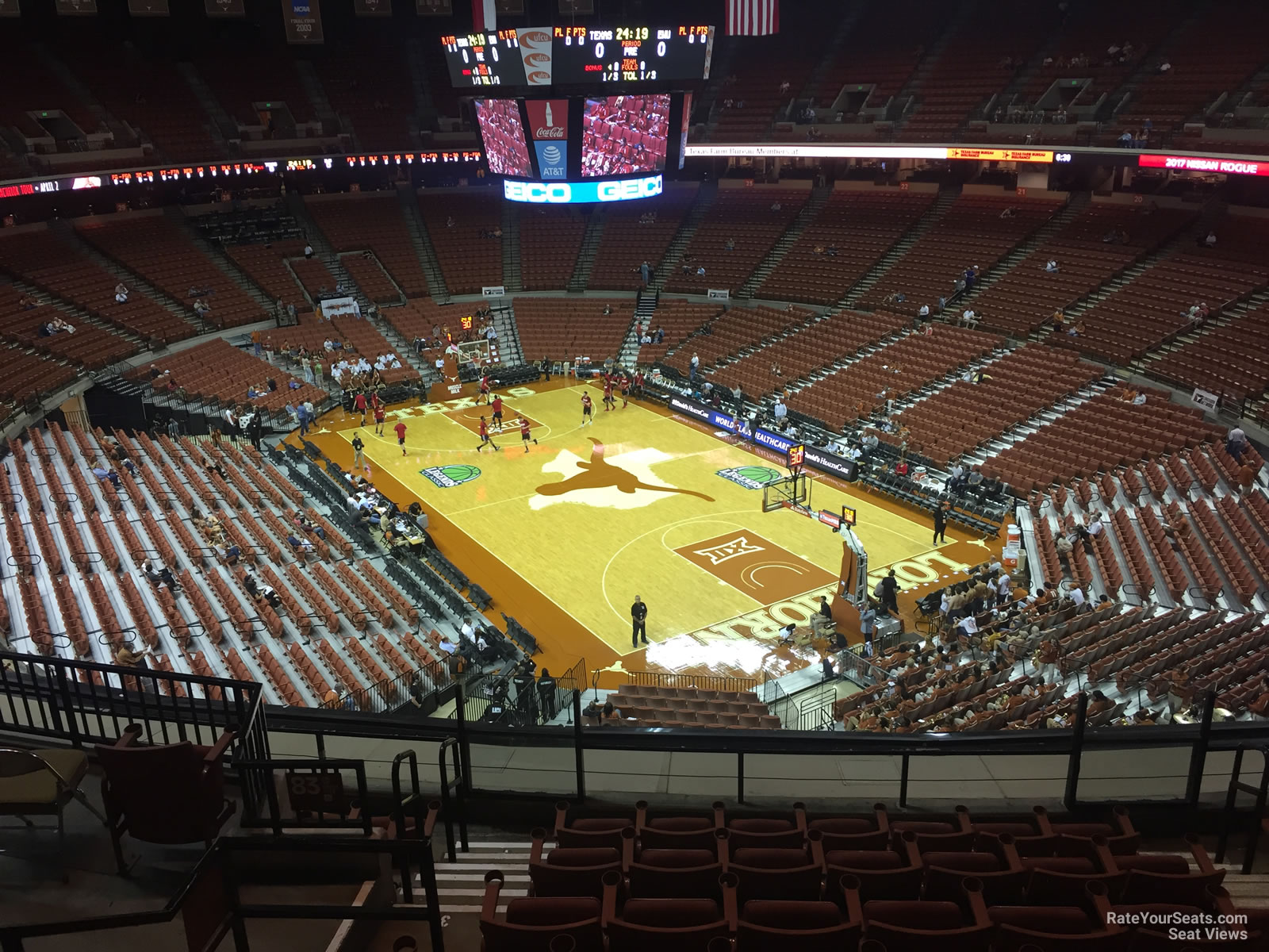 Section 84 At Frank Erwin Center Texas Basketball Rateyourseats Com