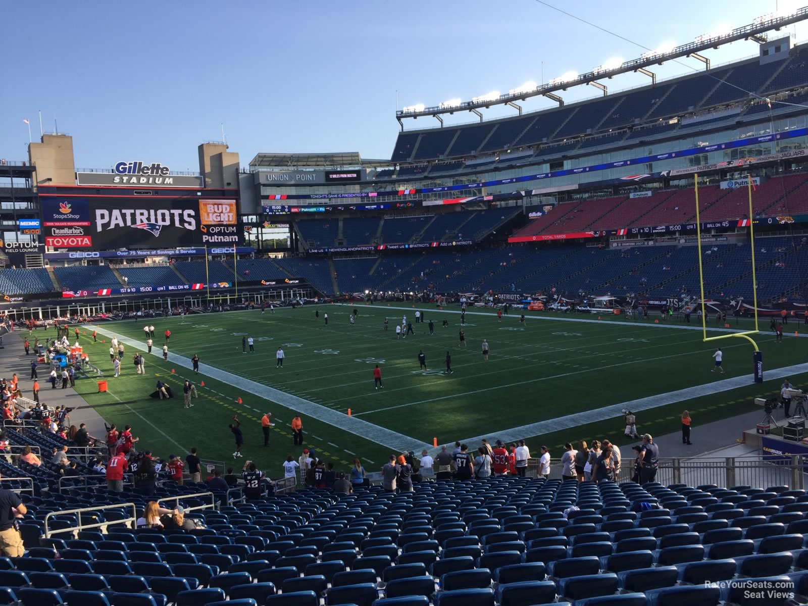 New England Patriots Seat View for Gillette Stadium Section 102, Row 29