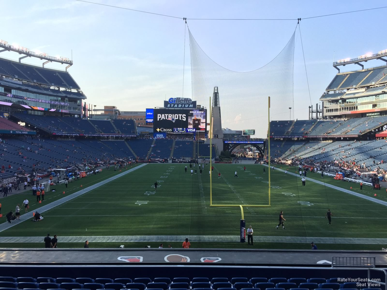 New England Patriots Seat View for Gillette Stadium Section 121, Row 29