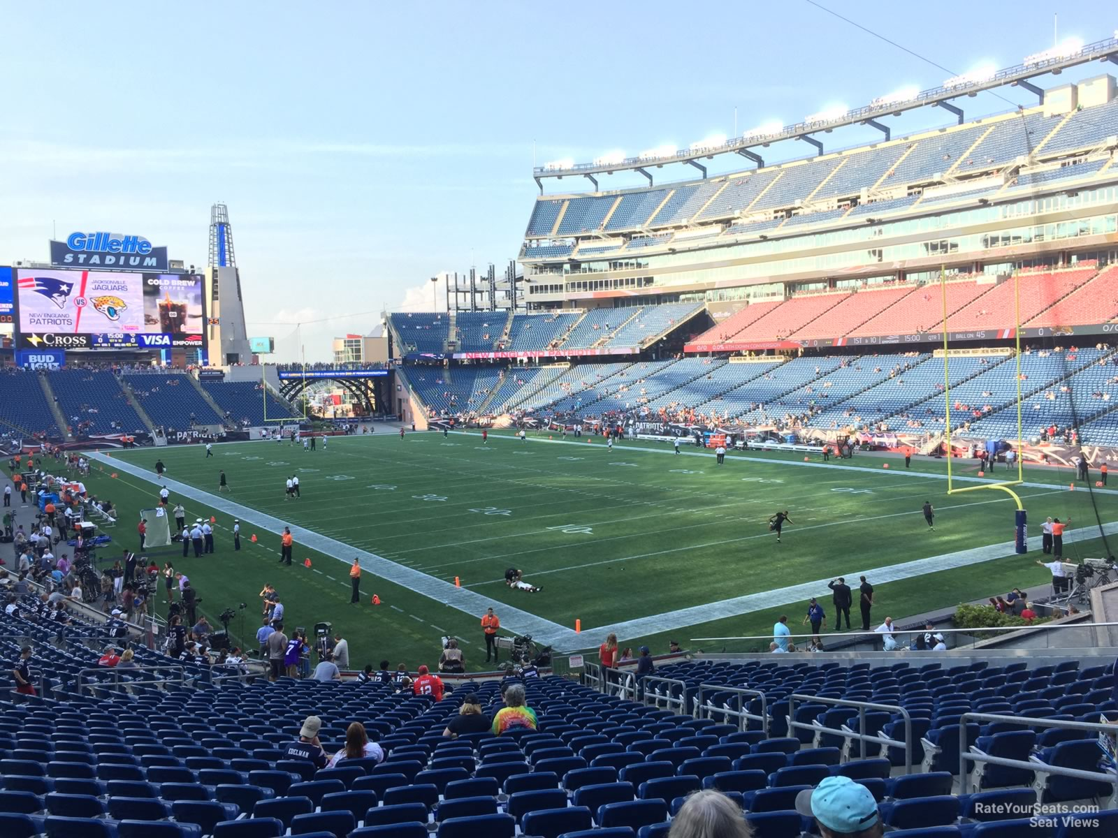 New England Patriots Seat View for Gillette Stadium Section 124, Row 29