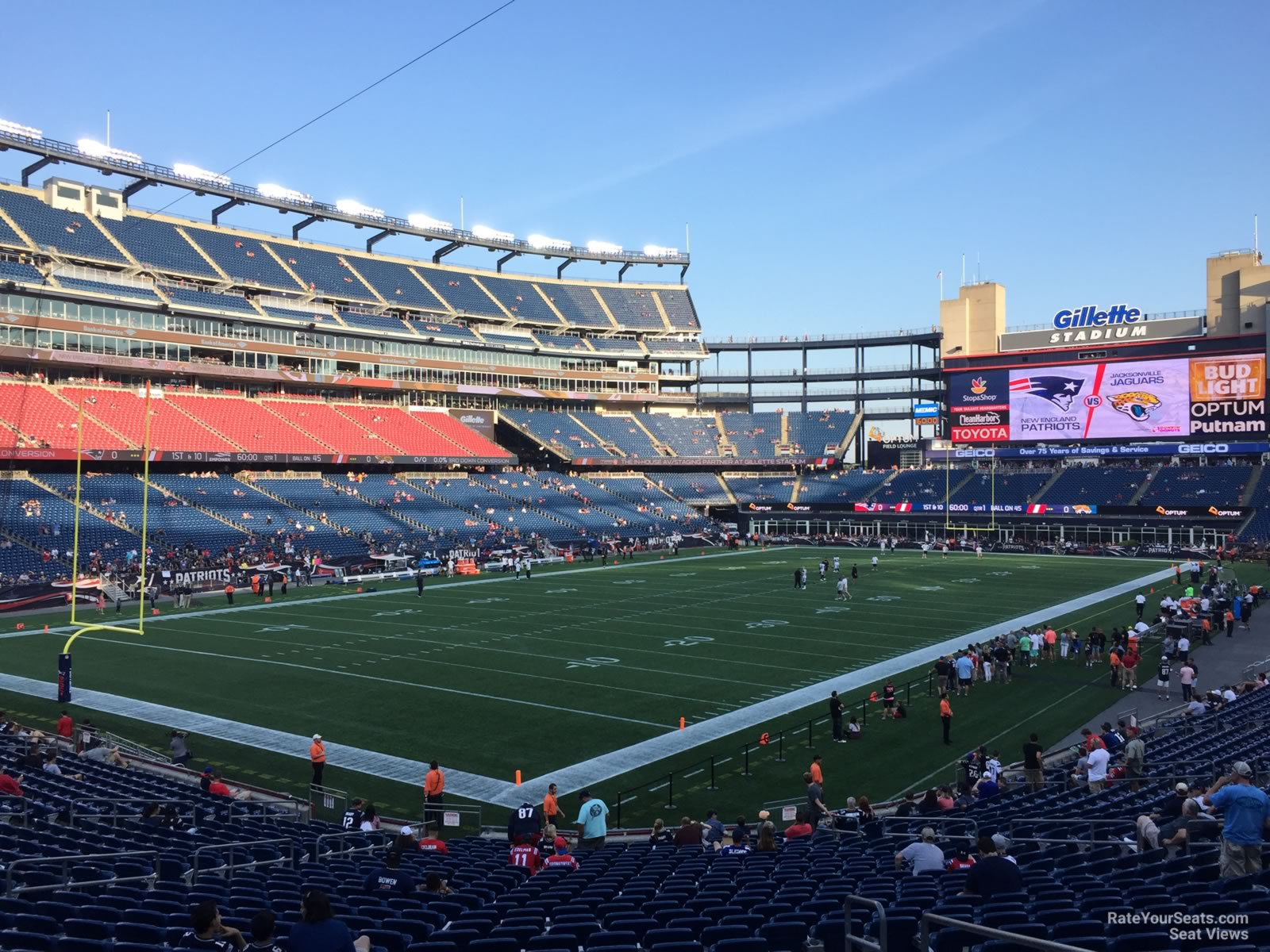 Gillette Stadium Section 139 New England Patriots