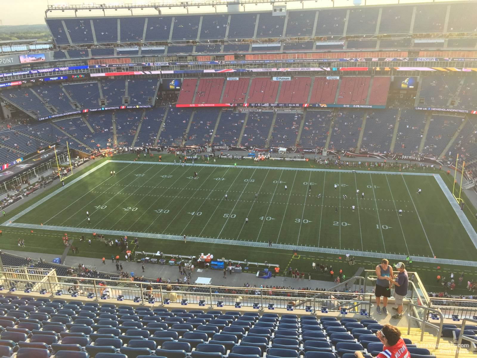 Gillette Stadium Section 308 New England Patriots