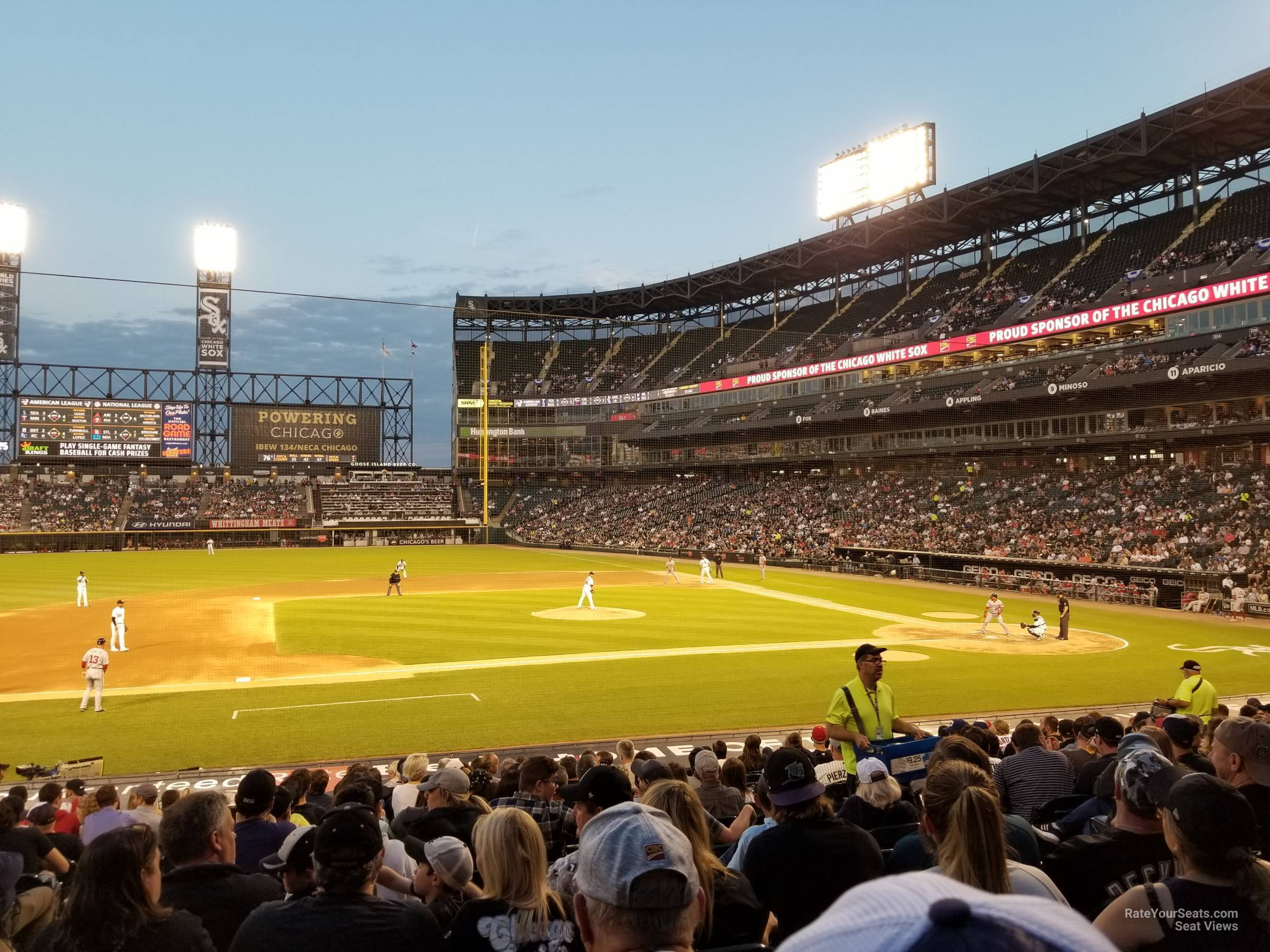 Seat View for Guaranteed Rate Field Section 140, Row 21