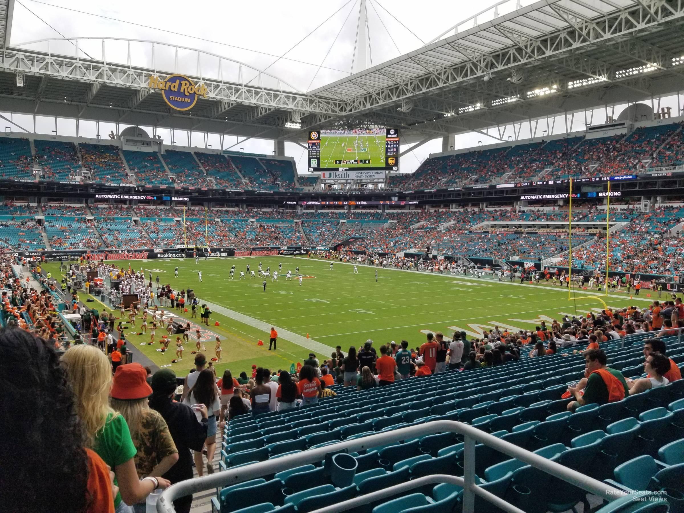 Hard Rock Stadium Section 107 Miami Dolphins