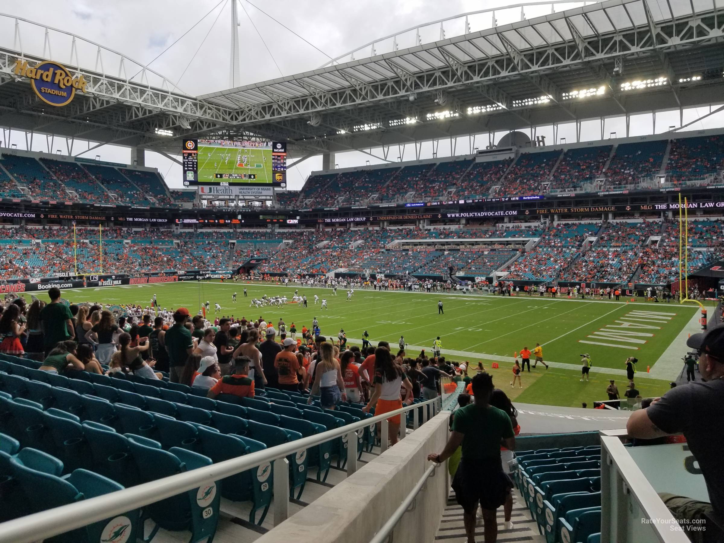 Seat View for Hard Rock Stadium Section 111, Row 26