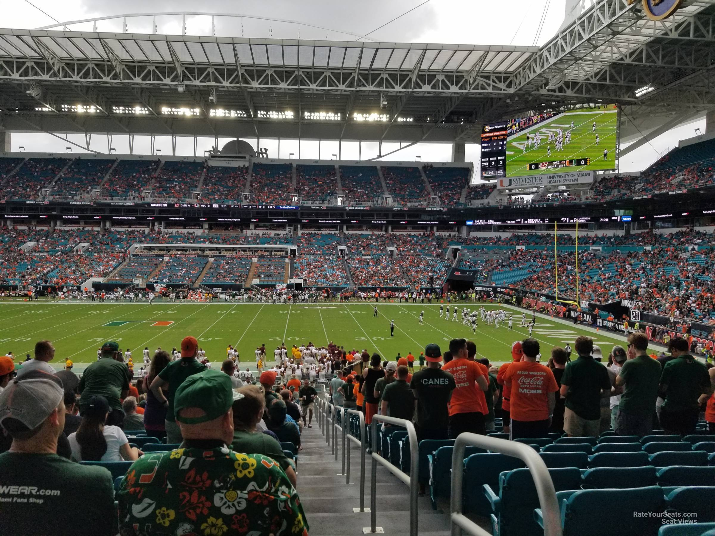 Seat View for Hard Rock Stadium Section 116, Row 36