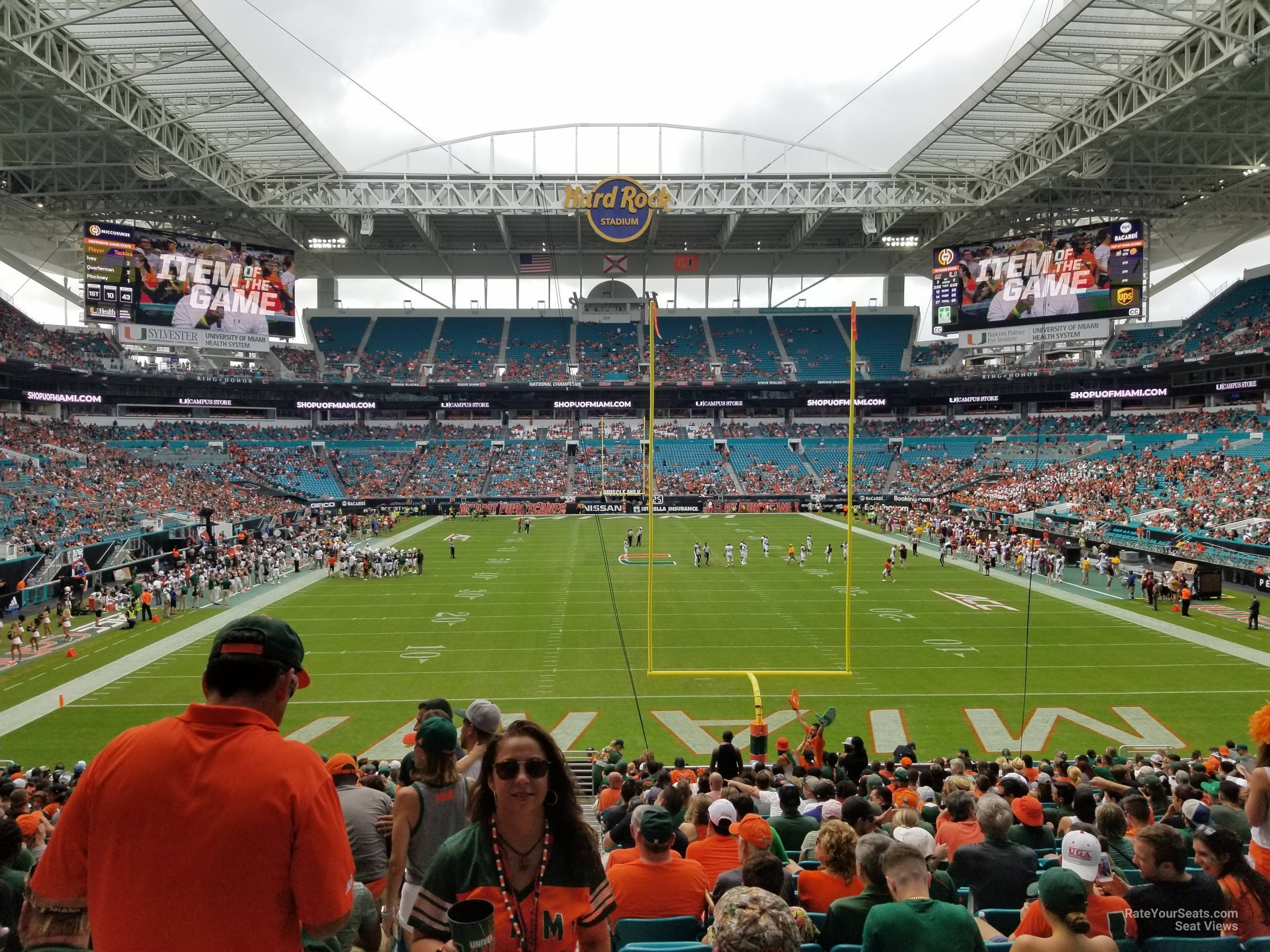 Seat View for Hard Rock Stadium Section 132, Row 28