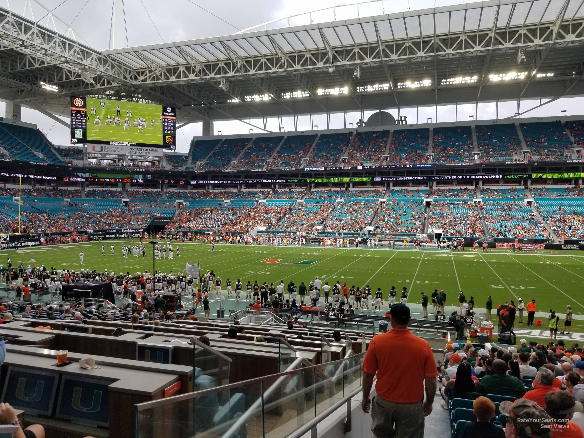 Seat View for Hard Rock Stadium Section 144, Row 29W
