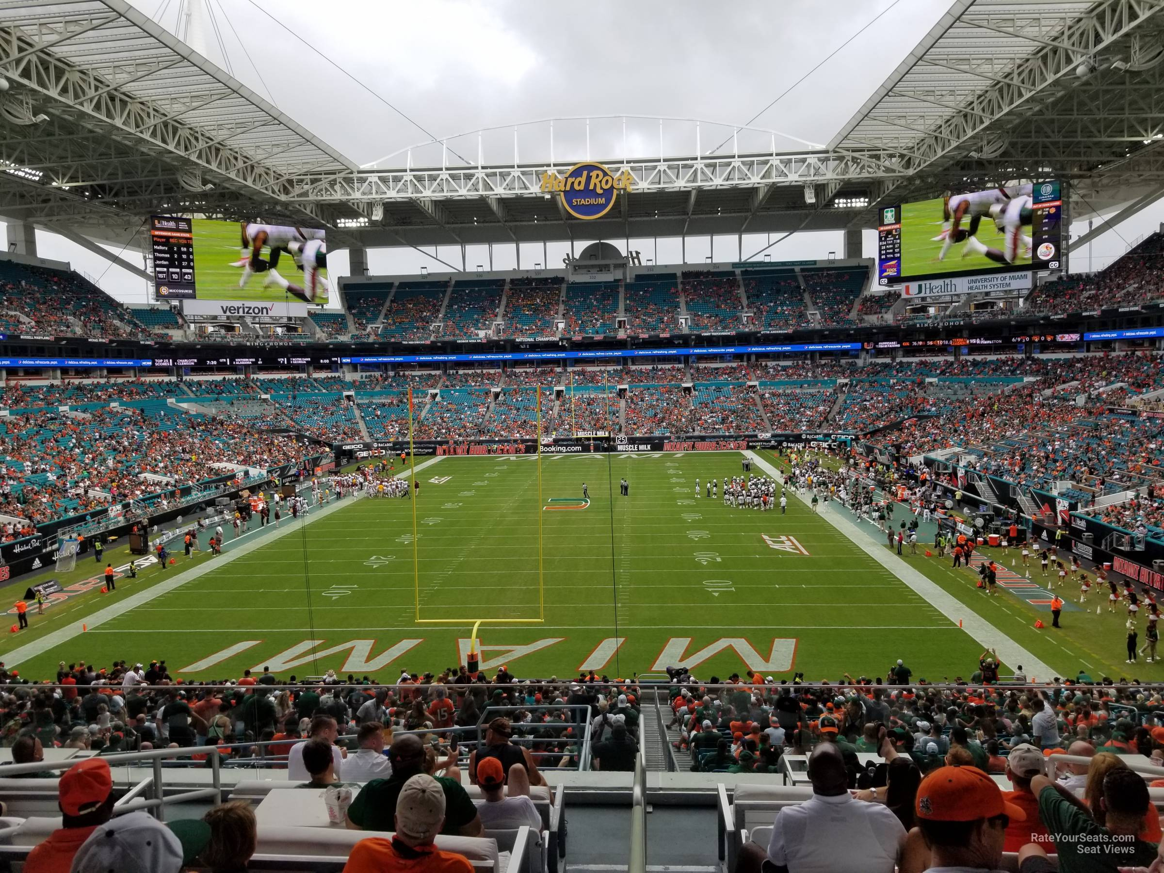 Seat View for Hard Rock Stadium Section 204, Row 10