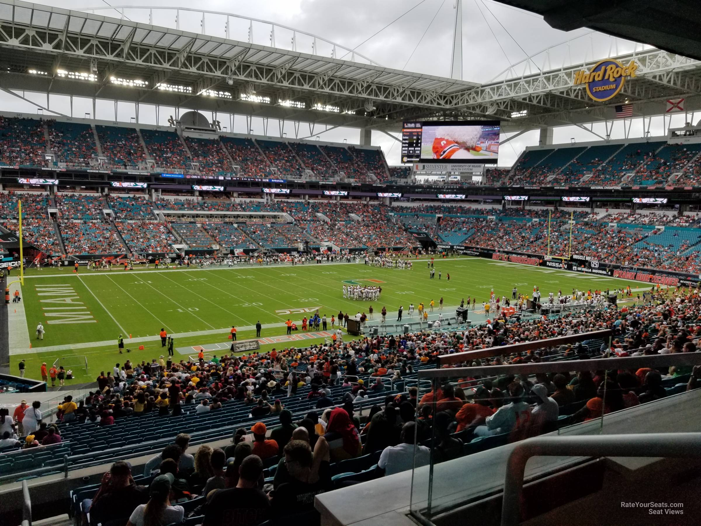 Seat View for Hard Rock Stadium Section 223, Row 10