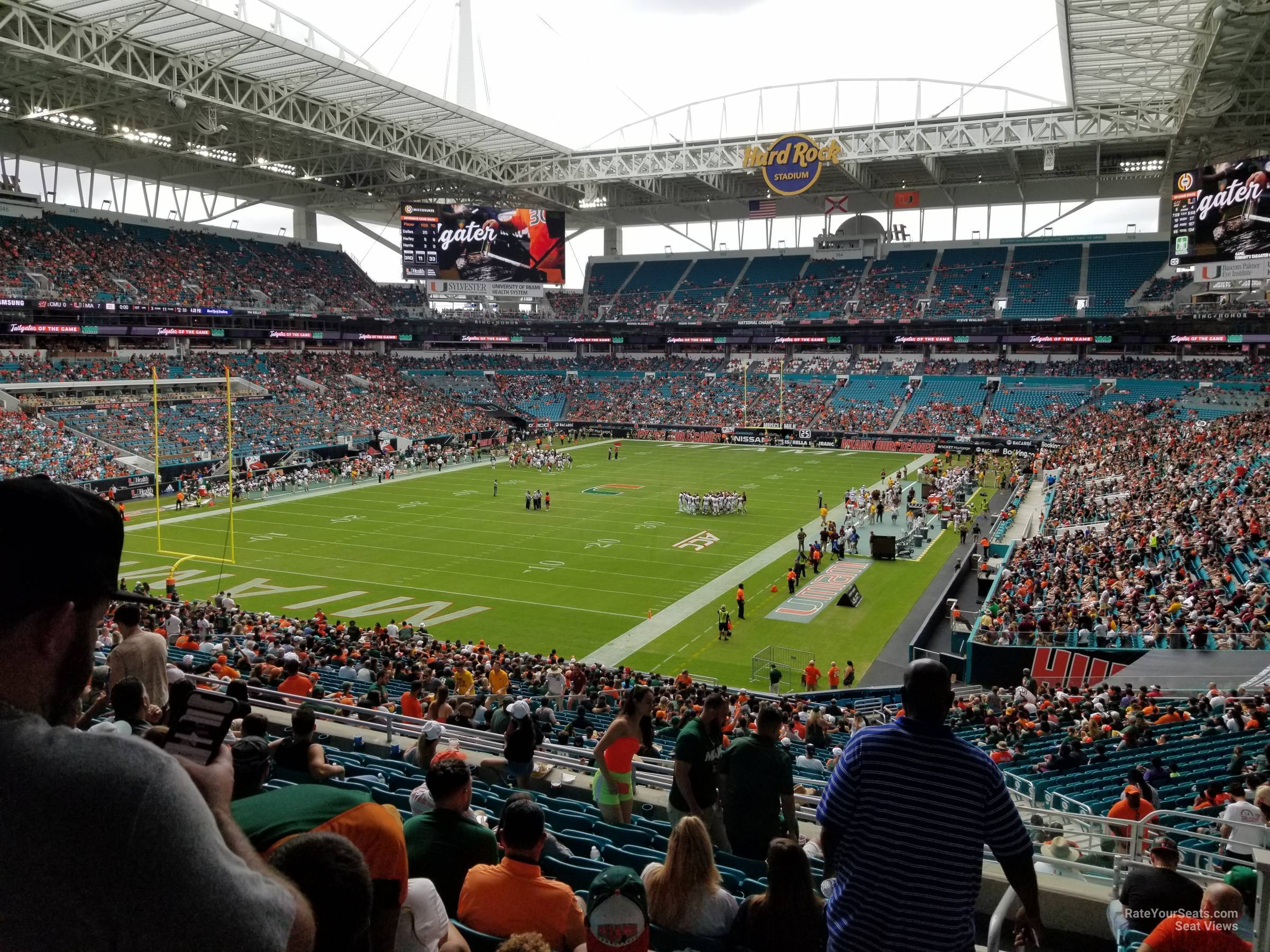 Seat View for Hard Rock Stadium Section 229, Row 10