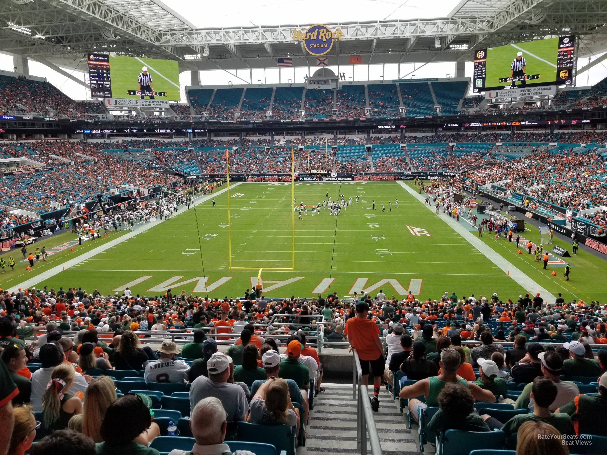 Seat View for Hard Rock Stadium Section 232, Row 10