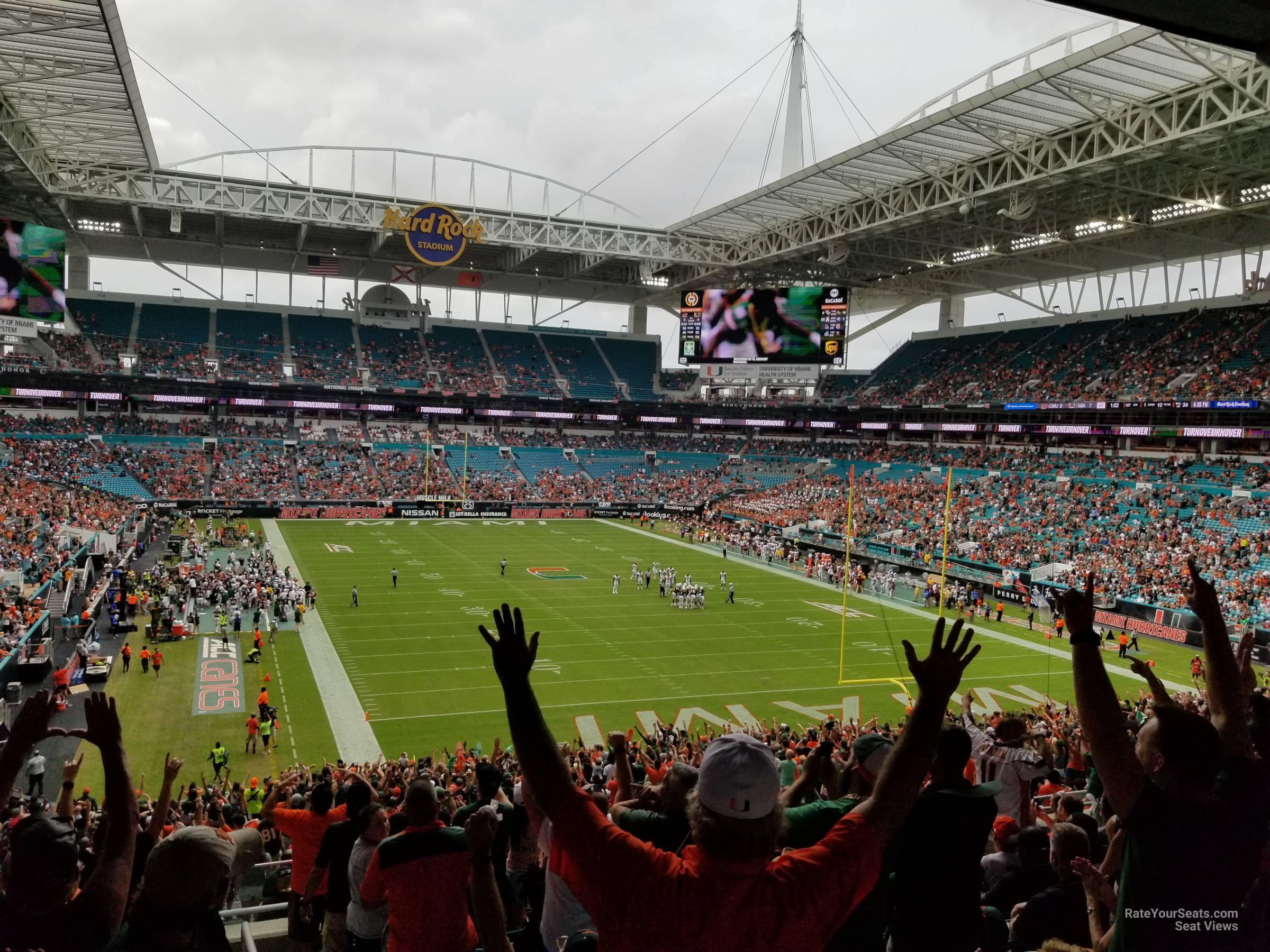 Section 235 At Hard Rock Stadium Miami Dolphins Rateyourseats Com