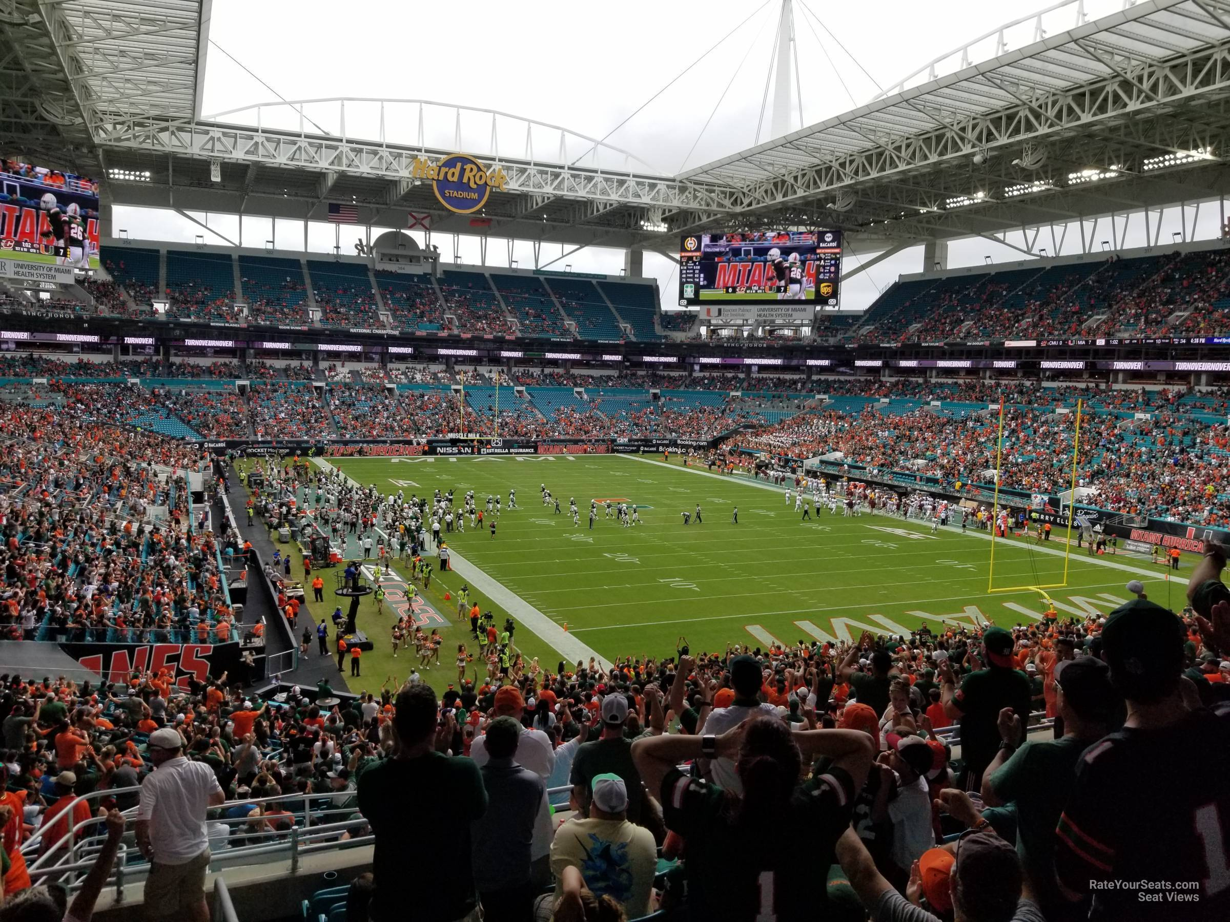 Seat View for Hard Rock Stadium Section 236, Row 10