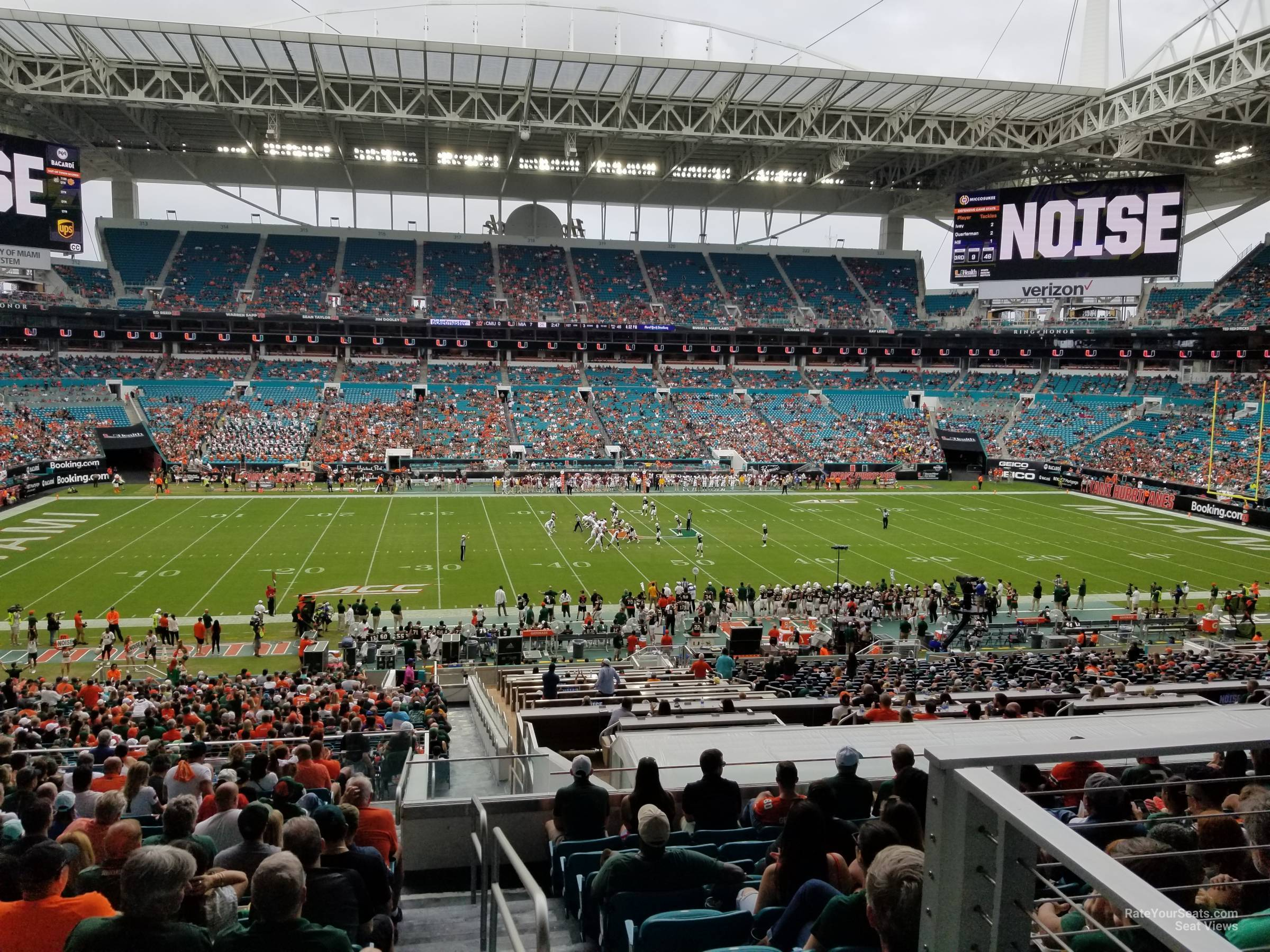 Seat View for Hard Rock Stadium Section 248, Row 19