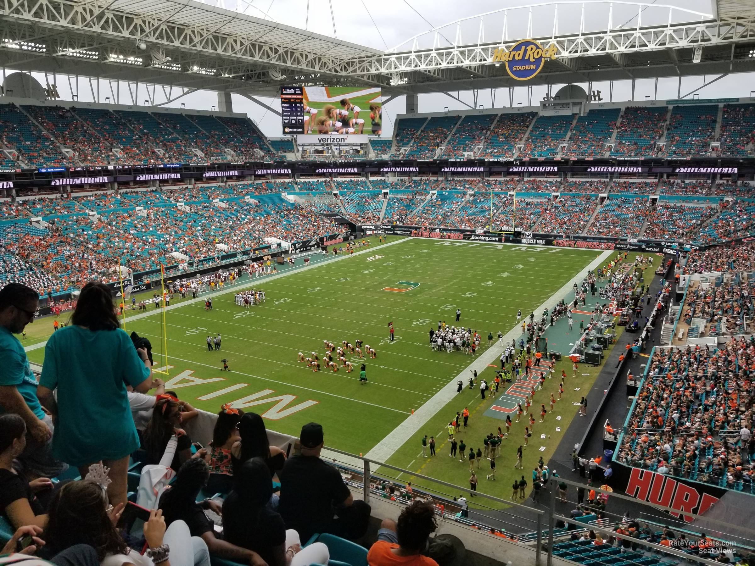 Seat View for Hard Rock Stadium Section 301, Row 5