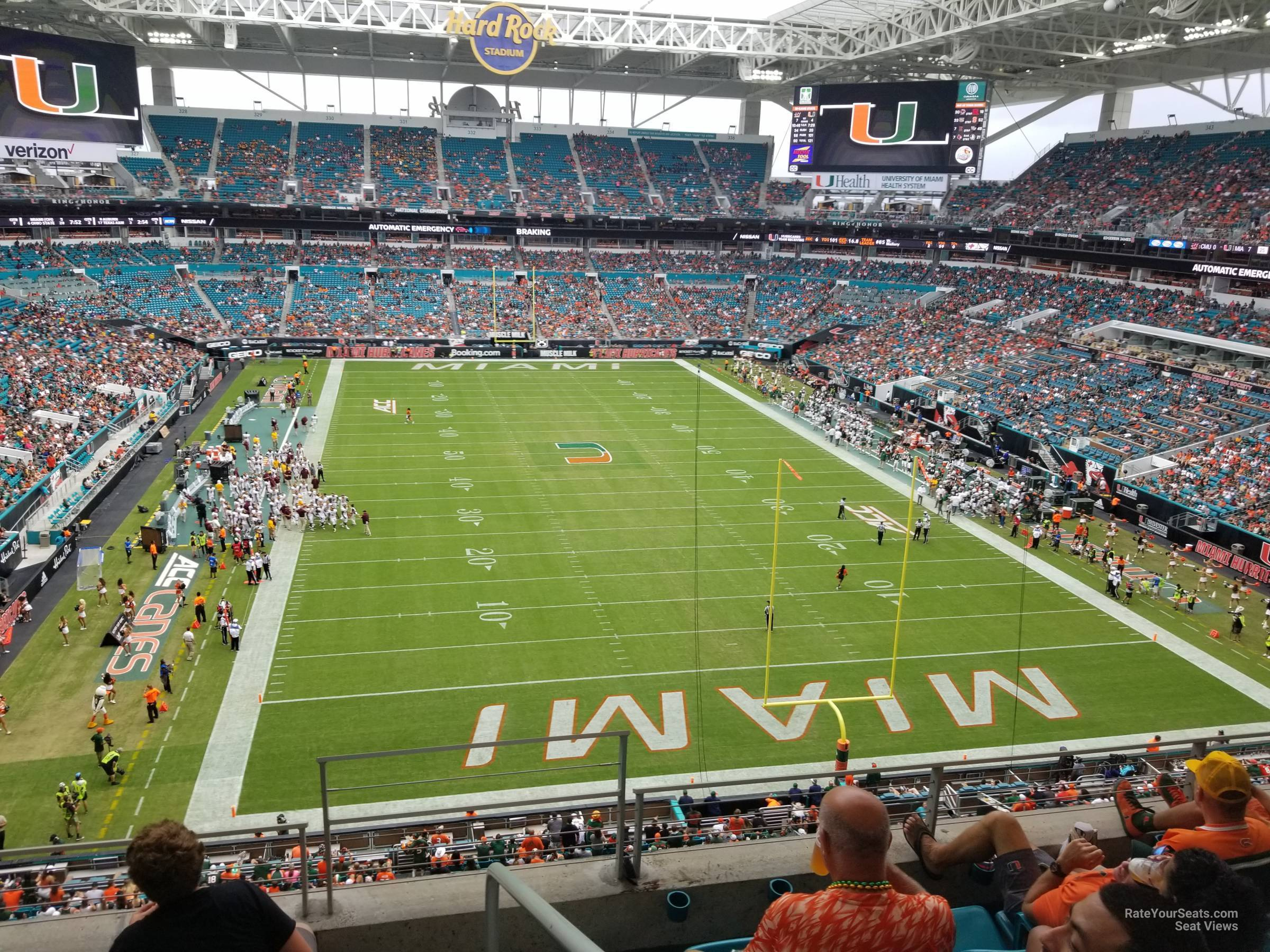 Seat View for Hard Rock Stadium Section 306, Row 5