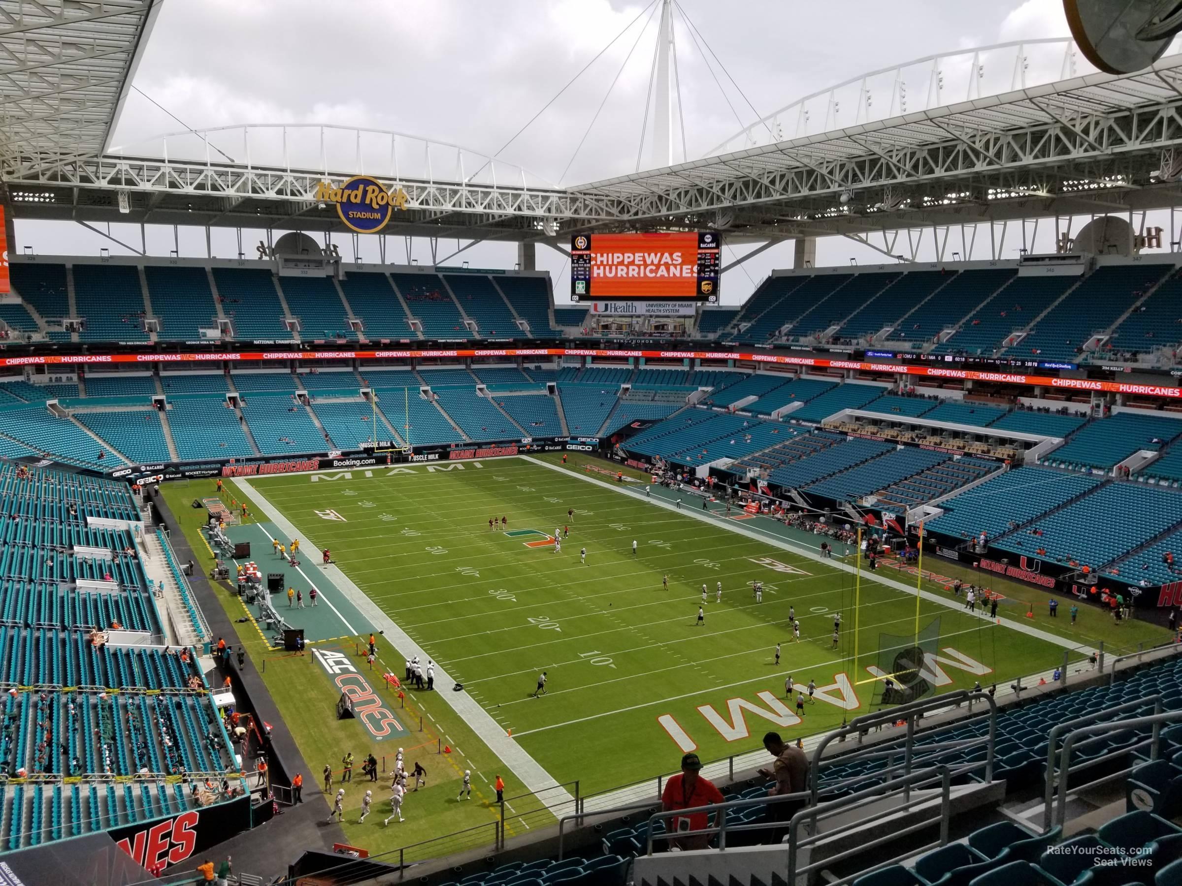 hard rock stadium section 308 - miami dolphins
