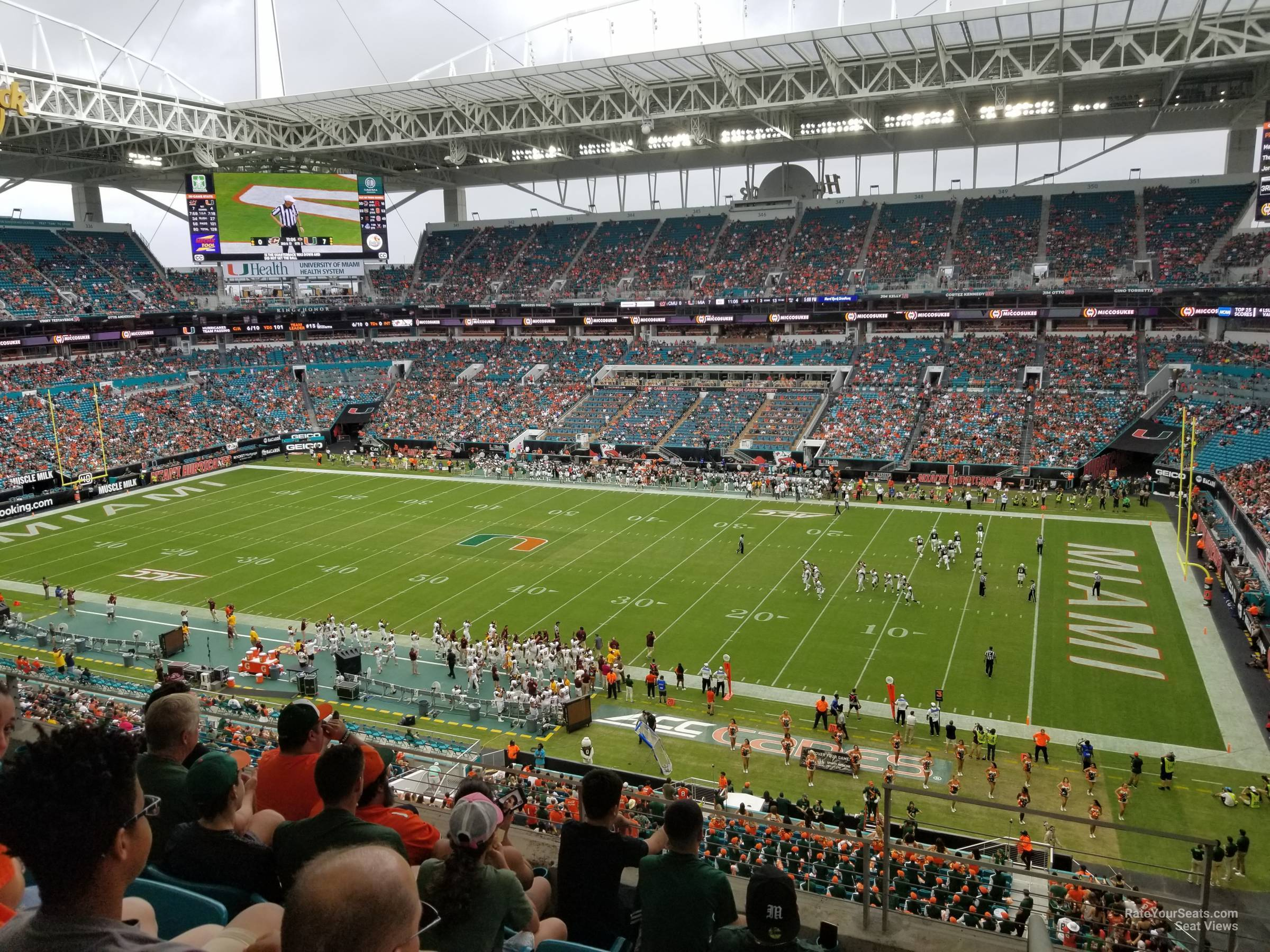 Seat View for Hard Rock Stadium Section 314, Row 5
