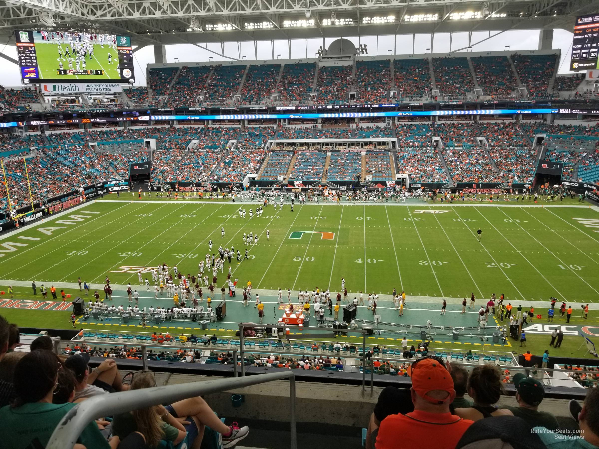 Seat View for Hard Rock Stadium Section 317, Row 5
