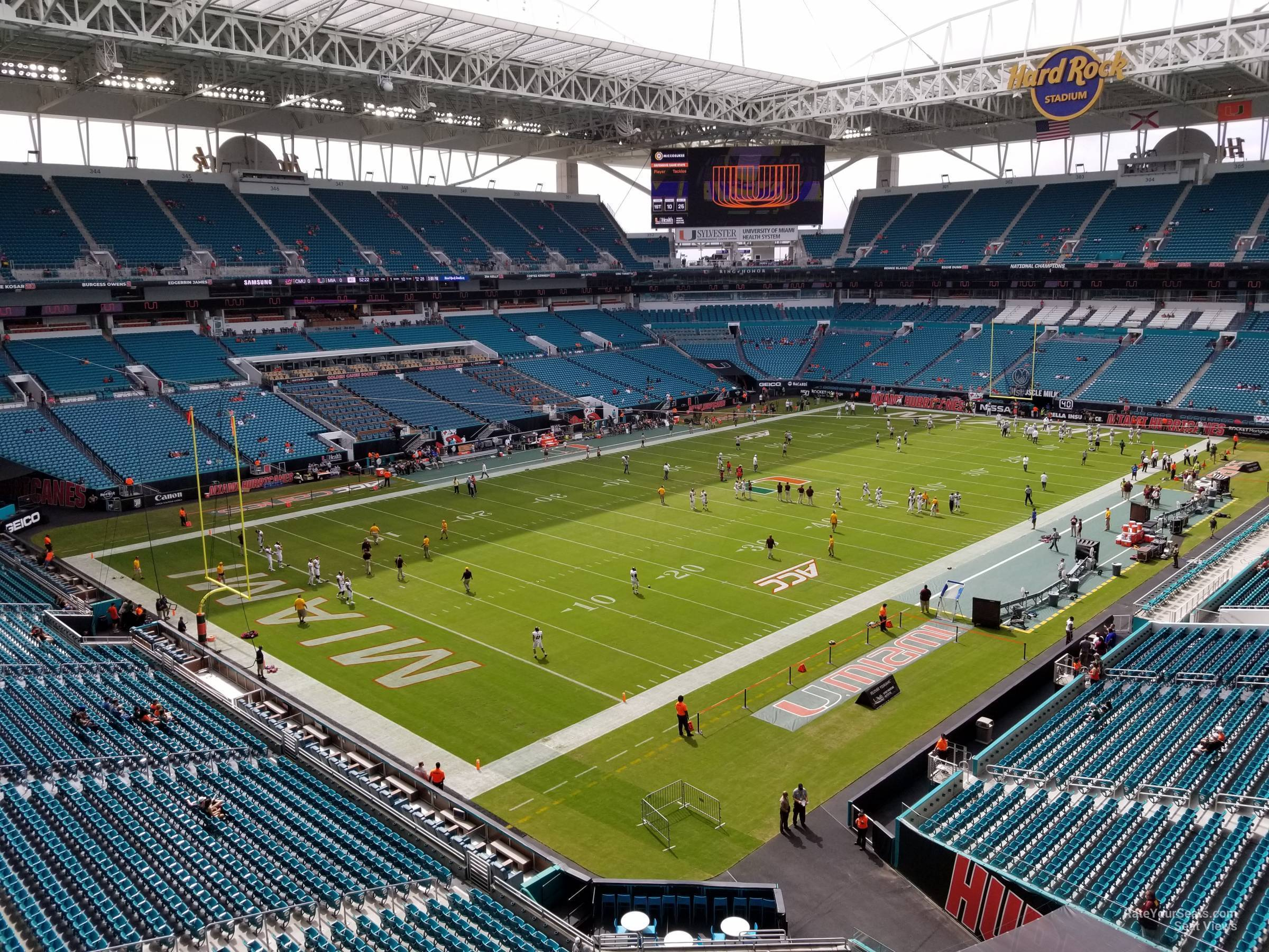 Seat View for Hard Rock Stadium Section 326, Row 2W