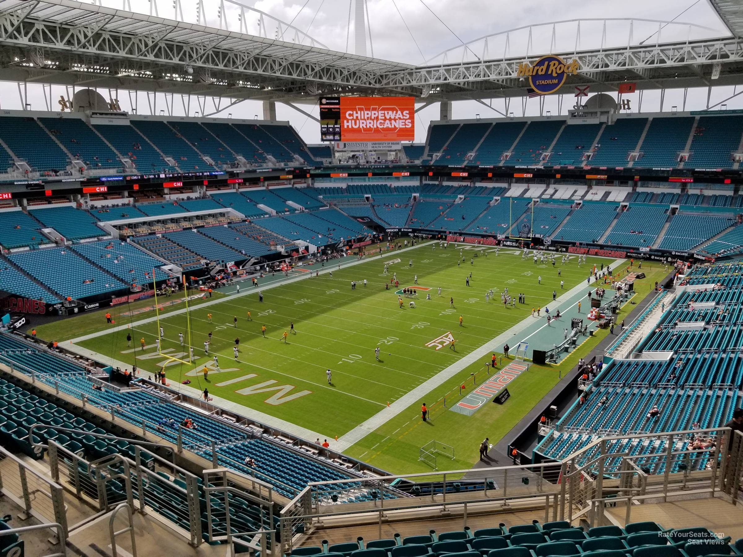 Seat View for Hard Rock Stadium Section 327, Row 14