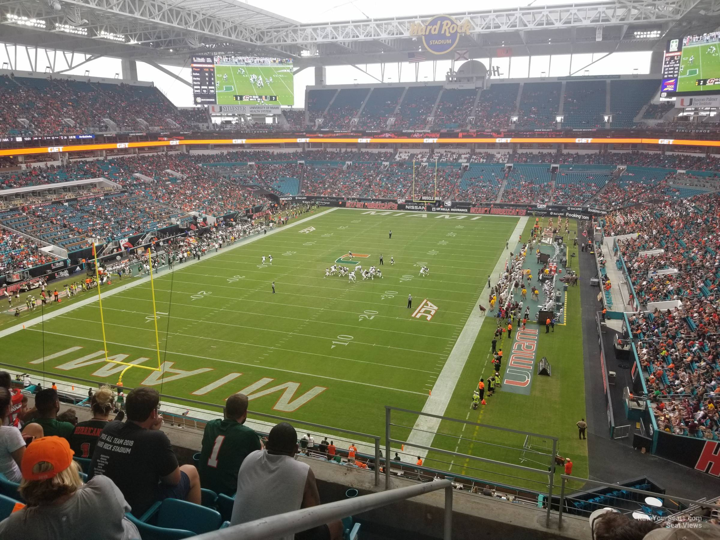 Seat View for Hard Rock Stadium Section 329, Row 5