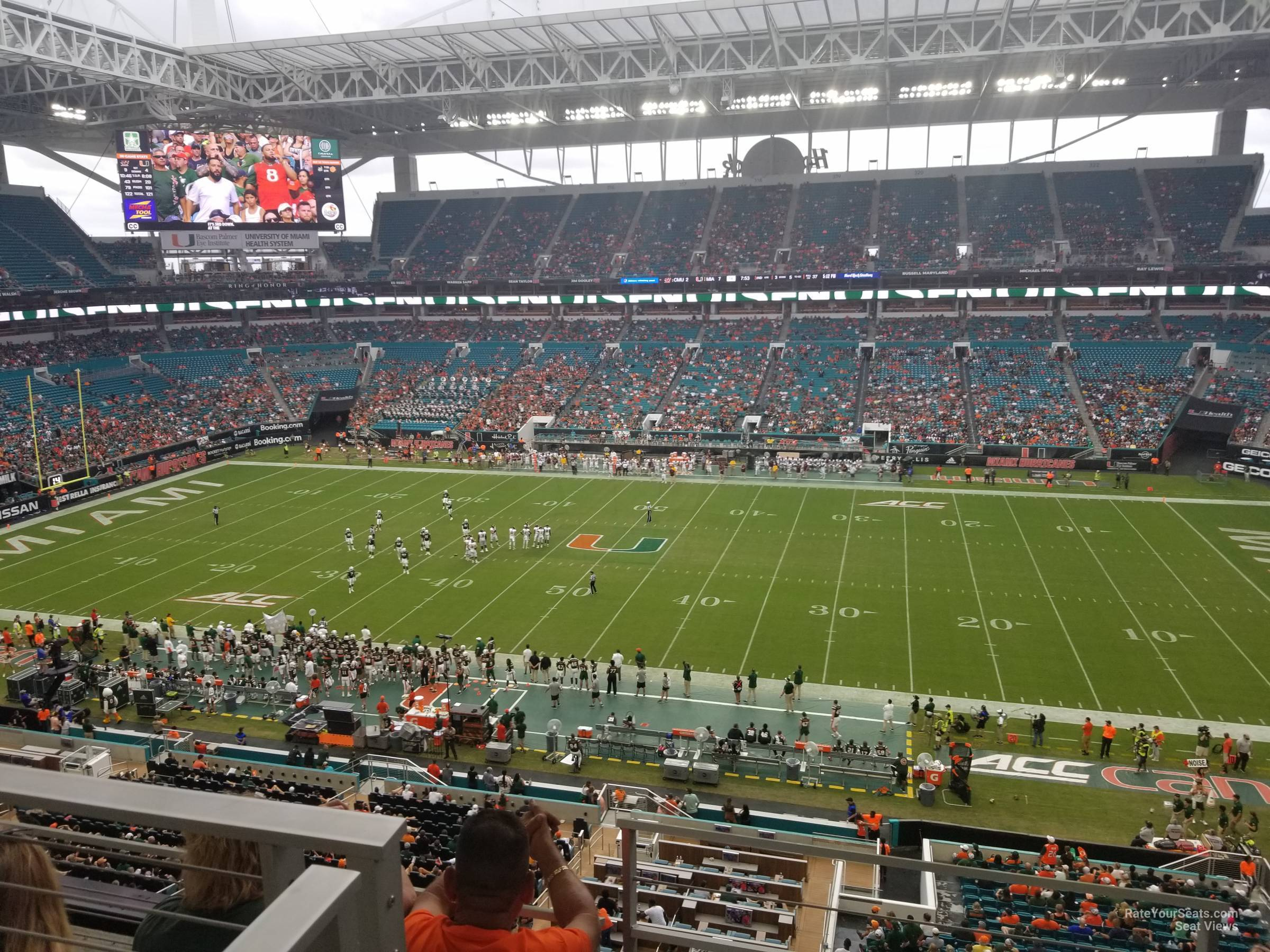 Seat View for Hard Rock Stadium Section 344, Row 5