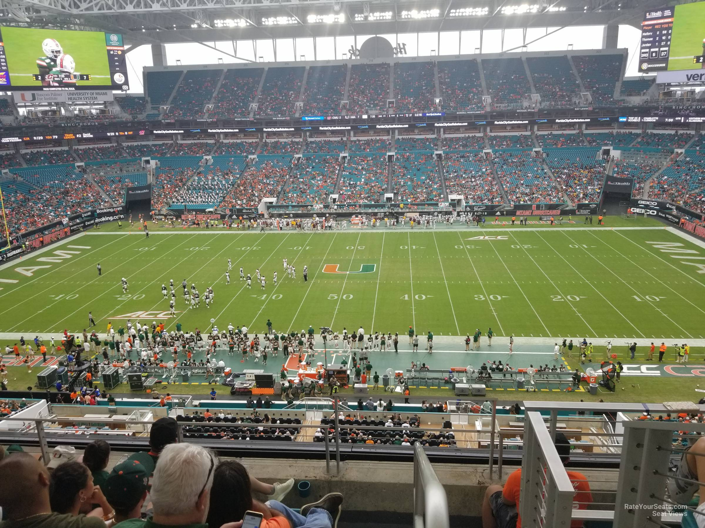 Seat View for Hard Rock Stadium Section 345, Row 5