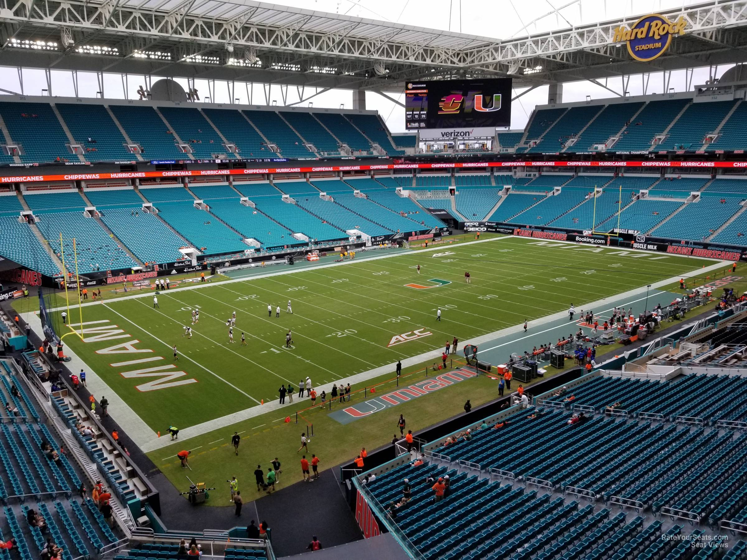 section 353 at hard rock stadium - miami dolphins