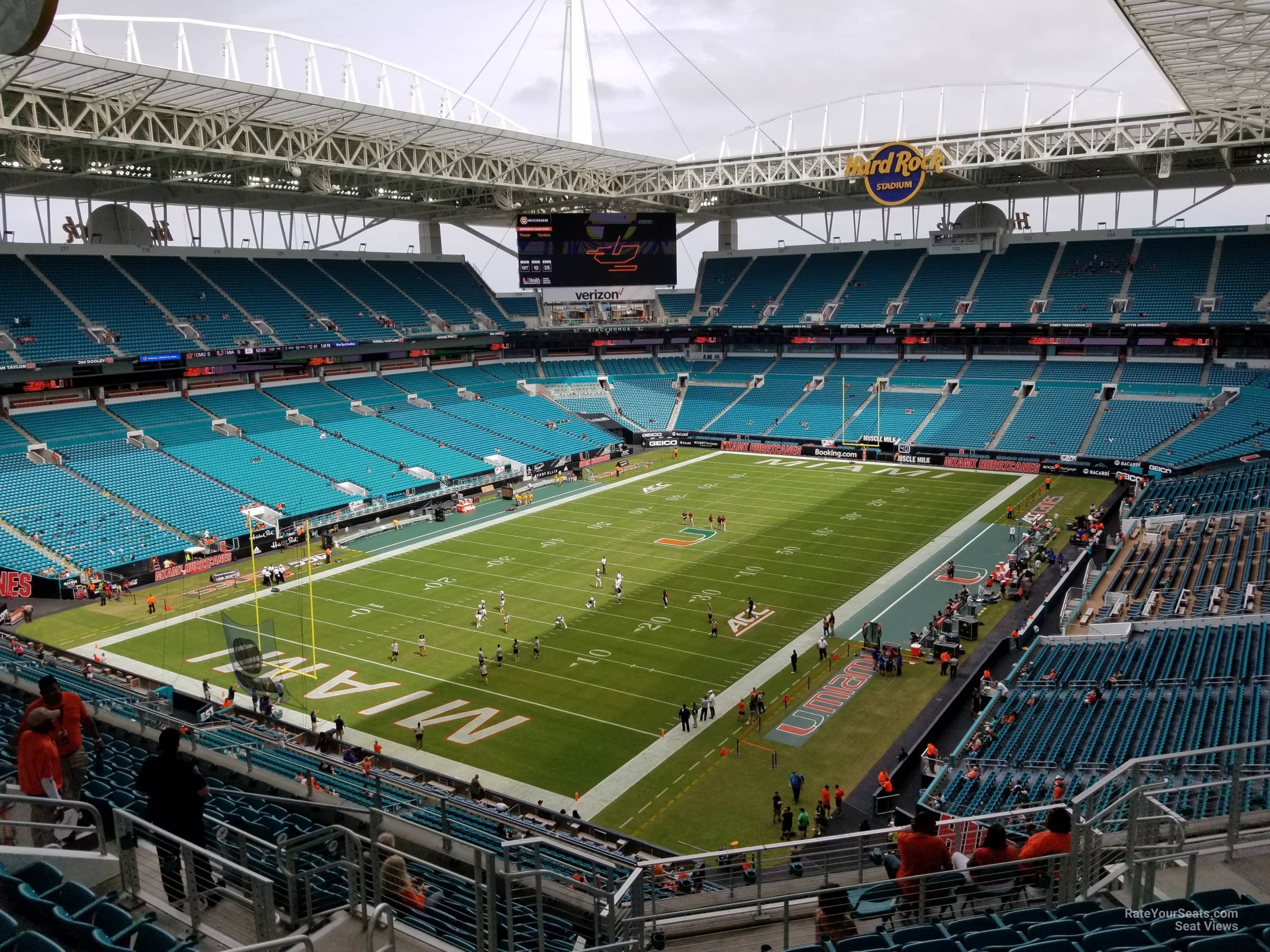 Seat View for Hard Rock Stadium Section 355, Row 14