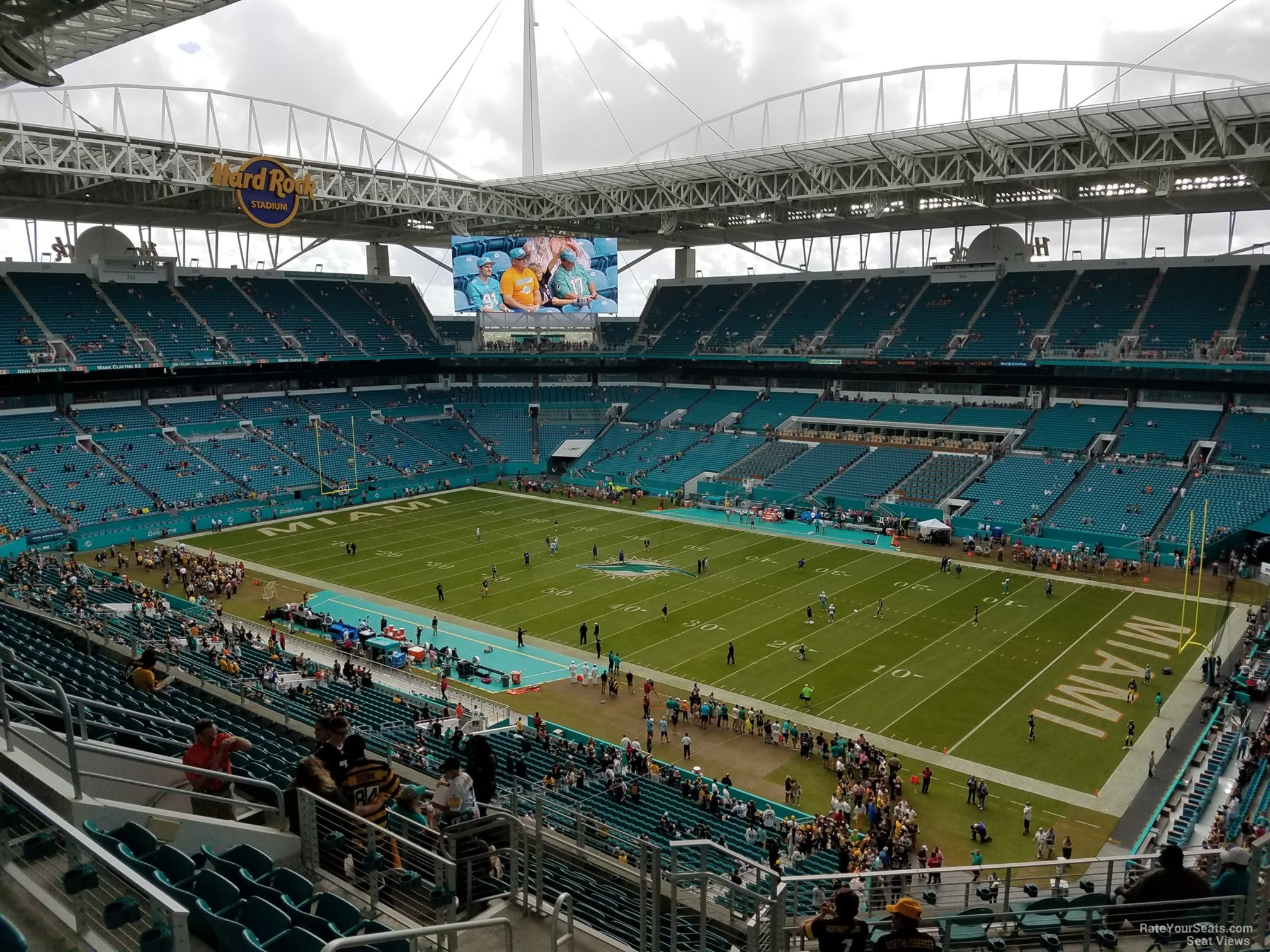 Seat View for Hard Rock Stadium Section 312, Row 14